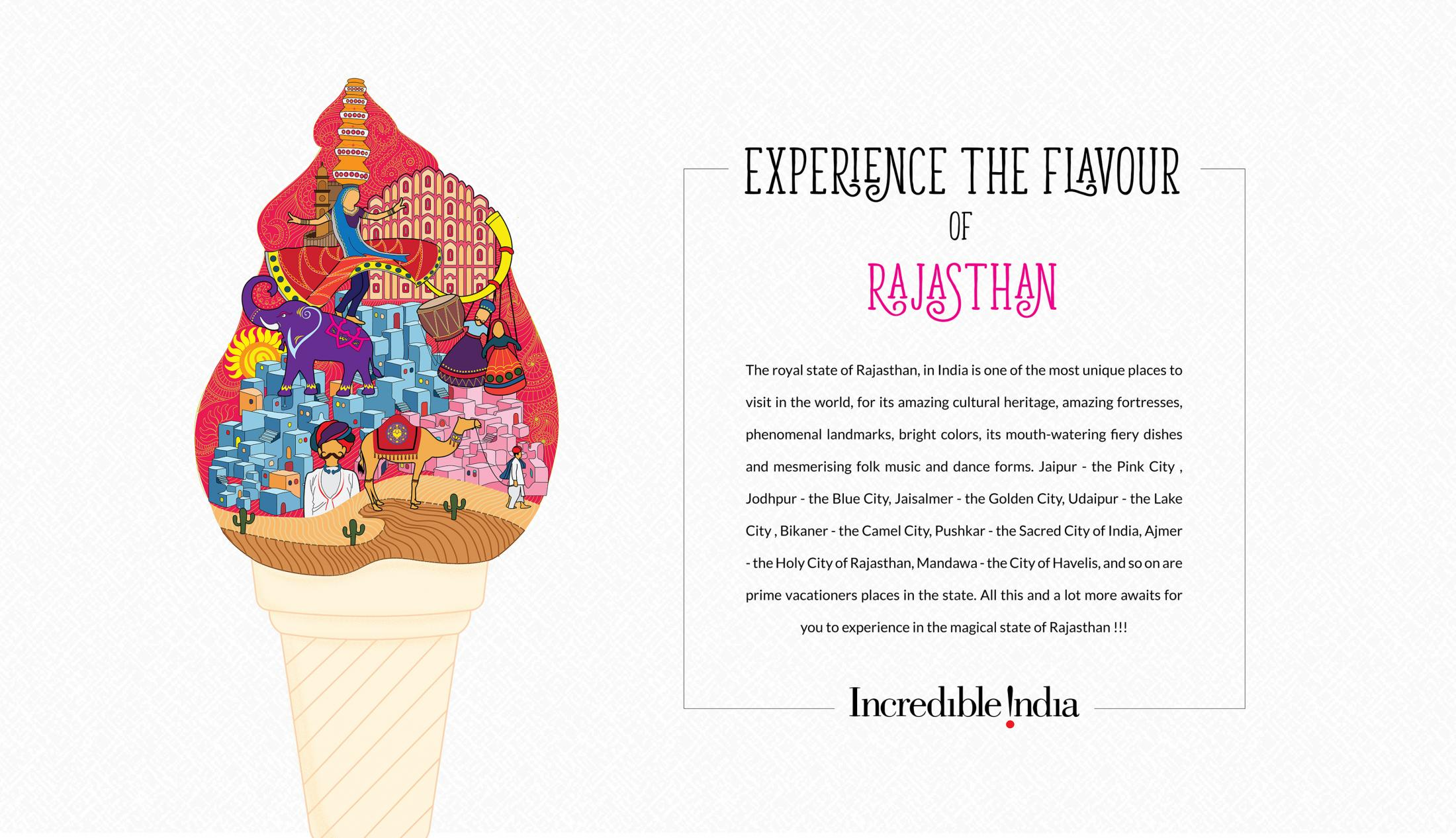 Incredible India Print Ad - Flavours of India - Rajasthan