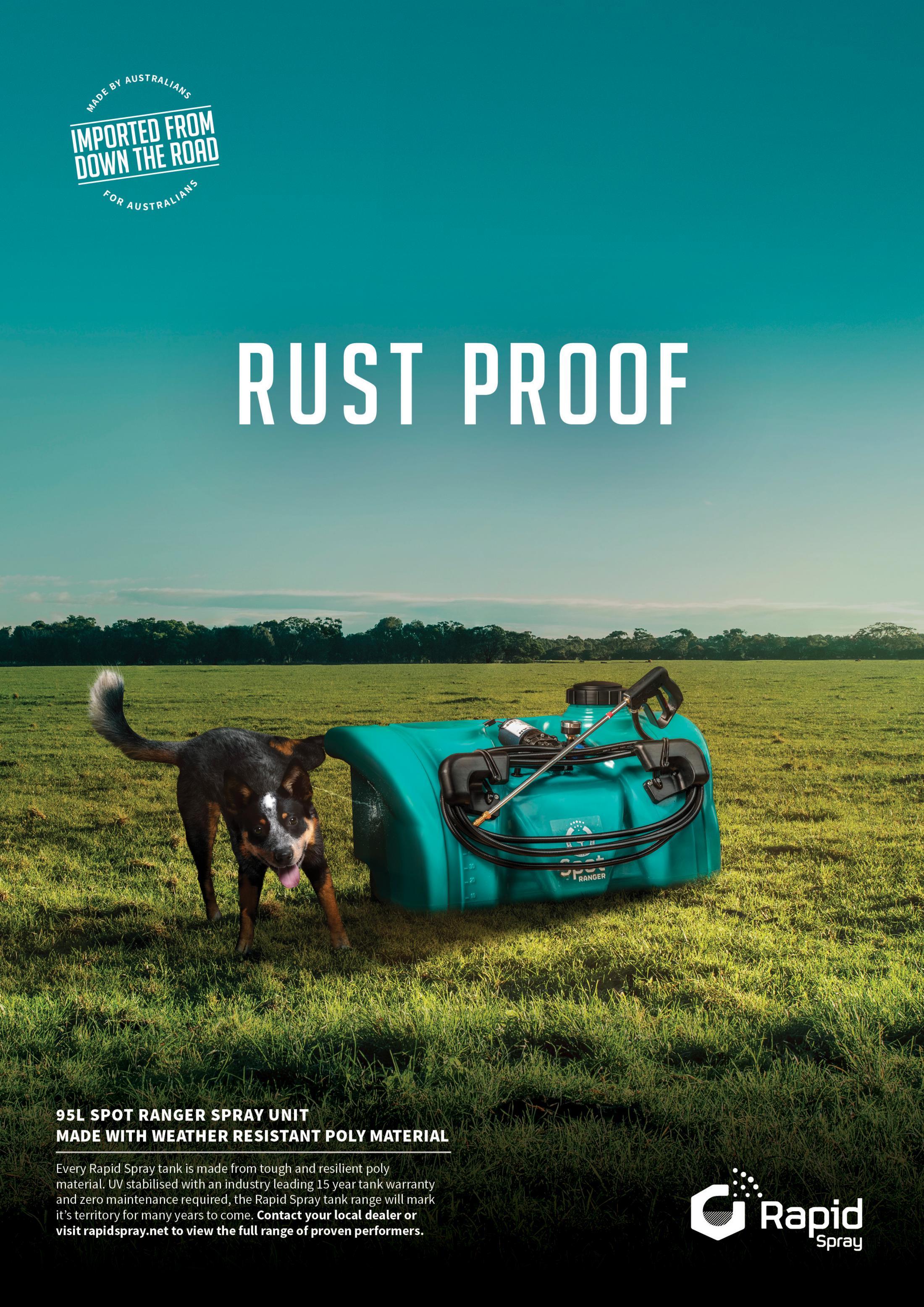 Rapid Spray Print Ad - Rust Proof