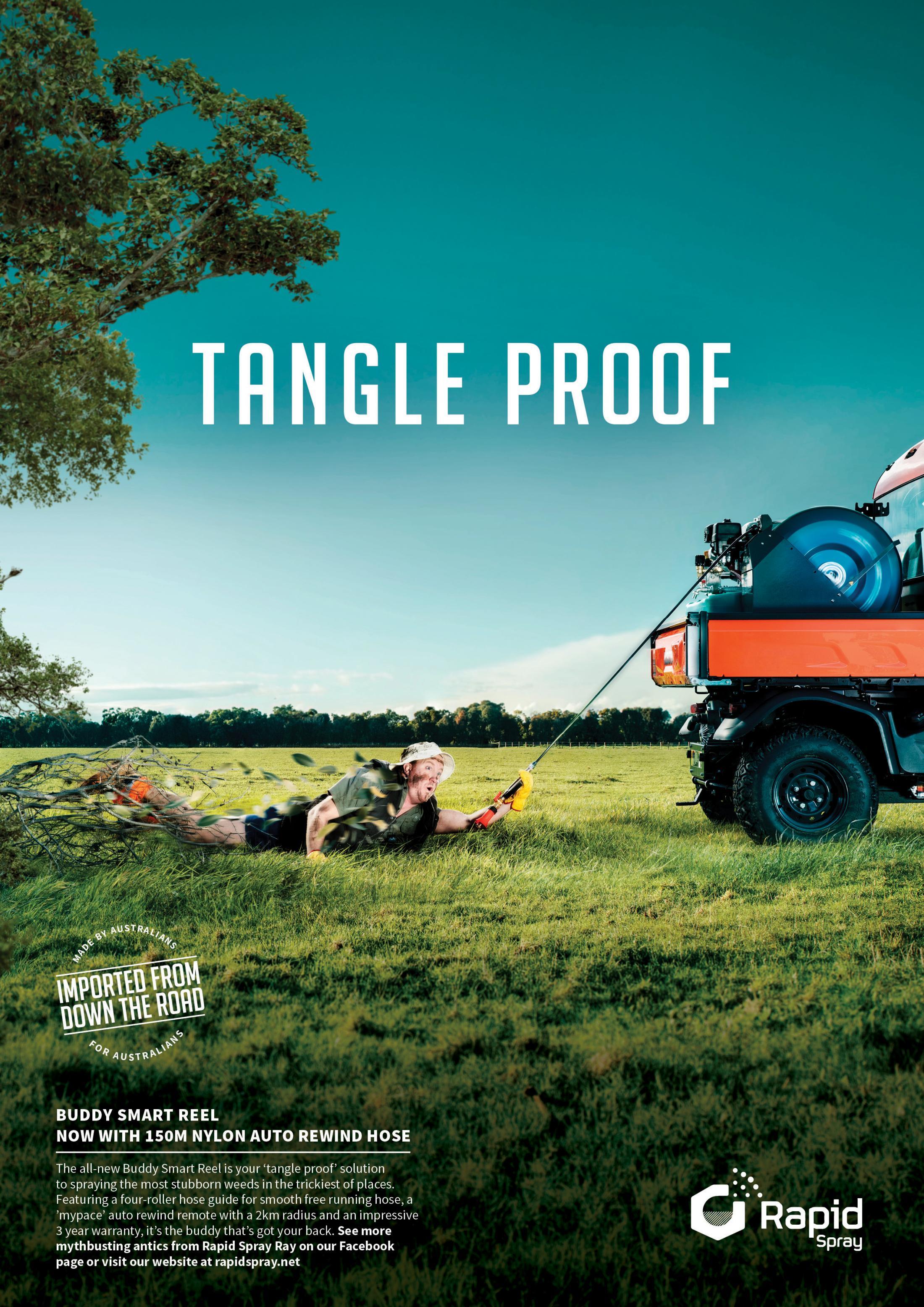 Rapid Spray Print Ad - Tangle Proof