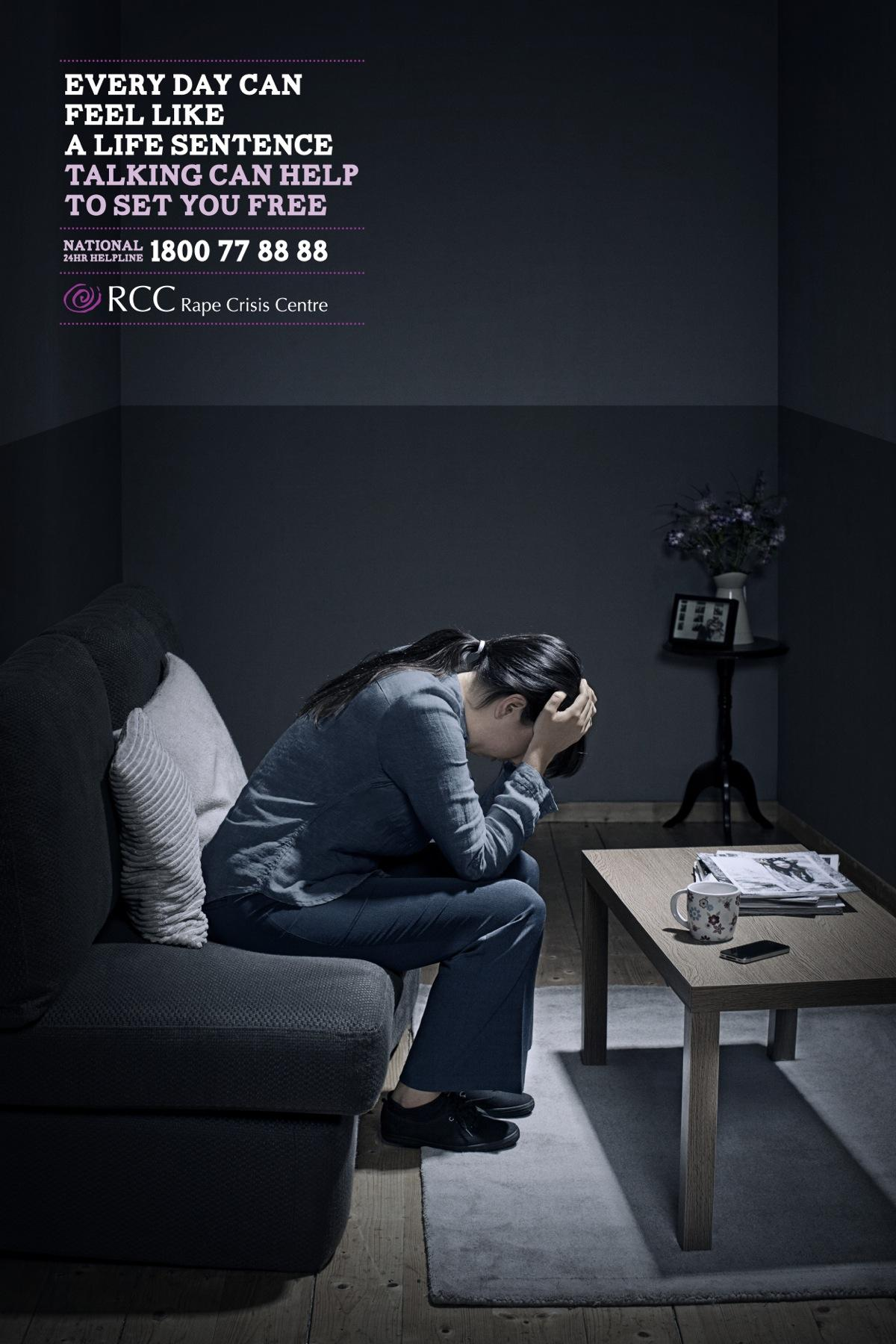 Rape Crisis Centre Print Ad -  Woman