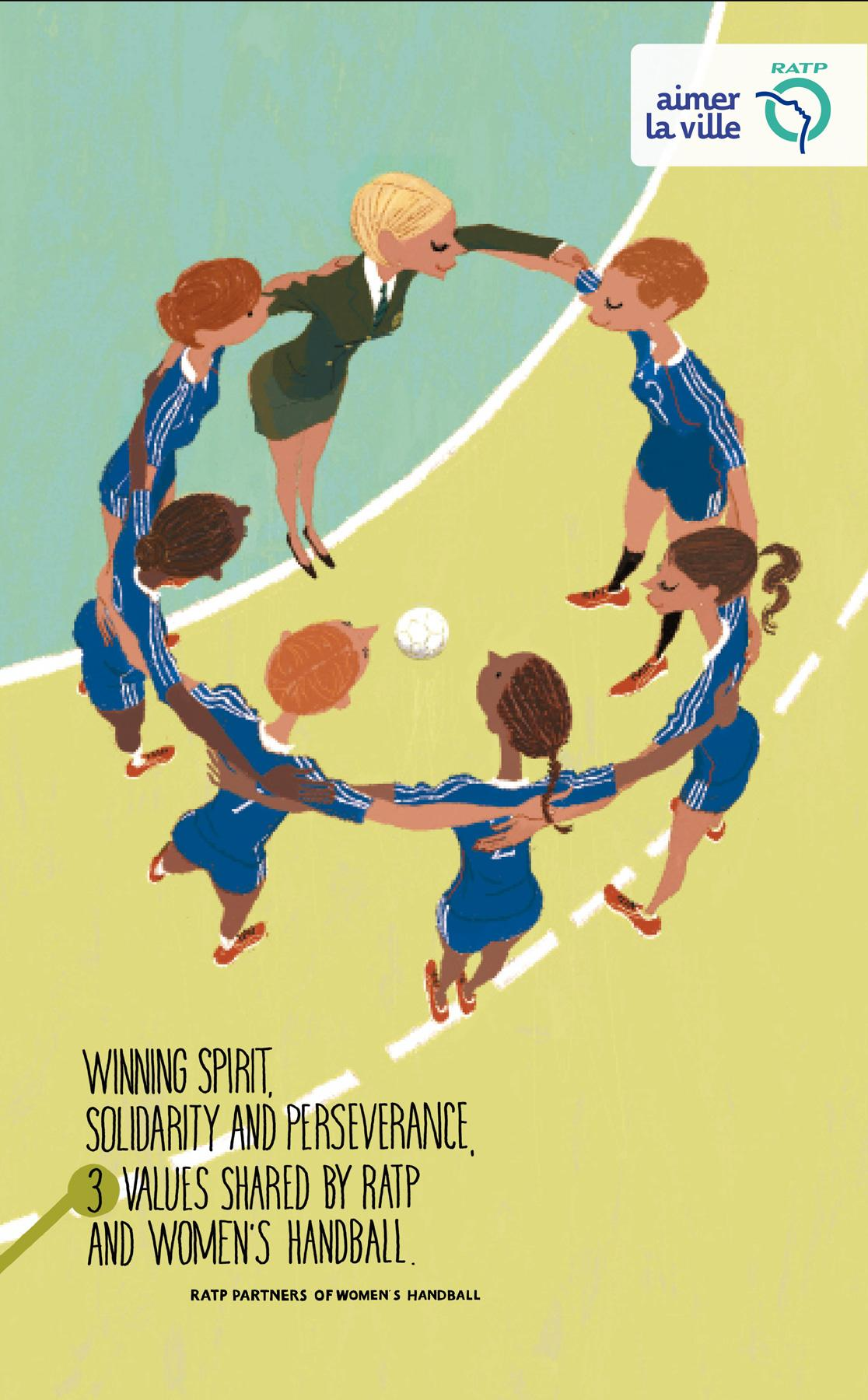 RATP Outdoor Ad -  Handball
