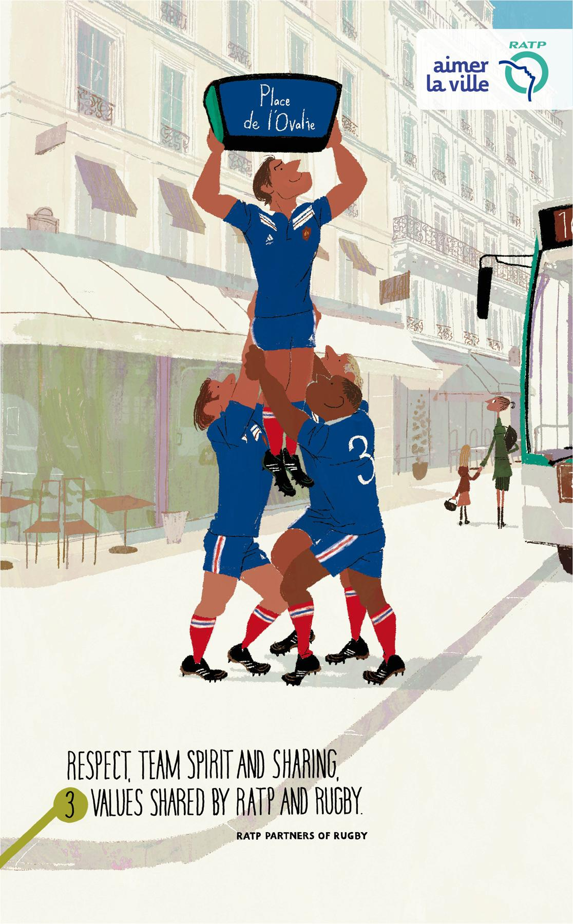 RATP Outdoor Ad -  Rugby