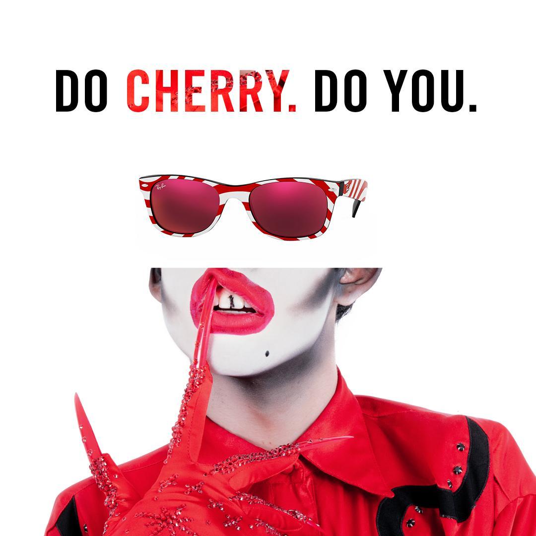 Ray-Ban Print Ad - Cherry