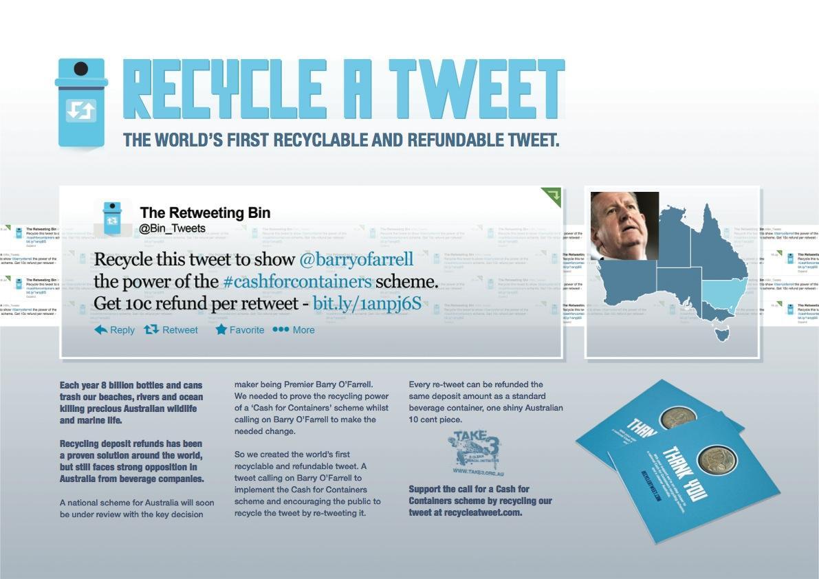 Take 3 Digital Ad -  Recycle a tweet