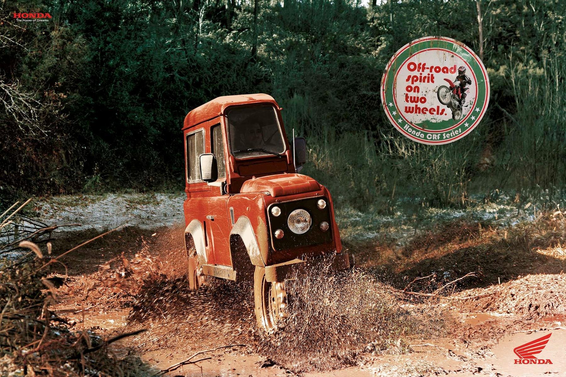 Honda Print Ad -  Two Wheels Red