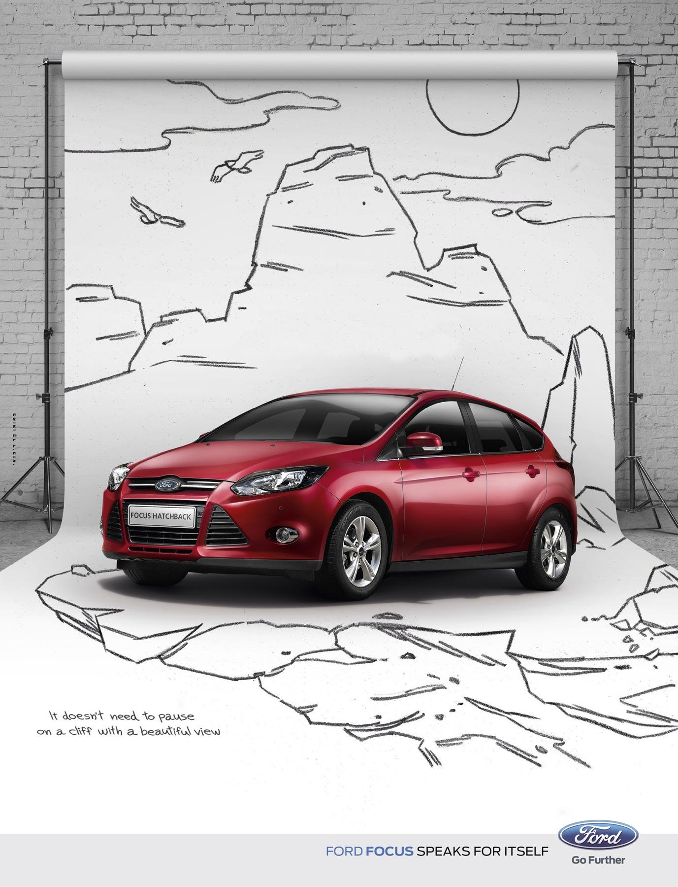 Ford Print Ad -  Cliff