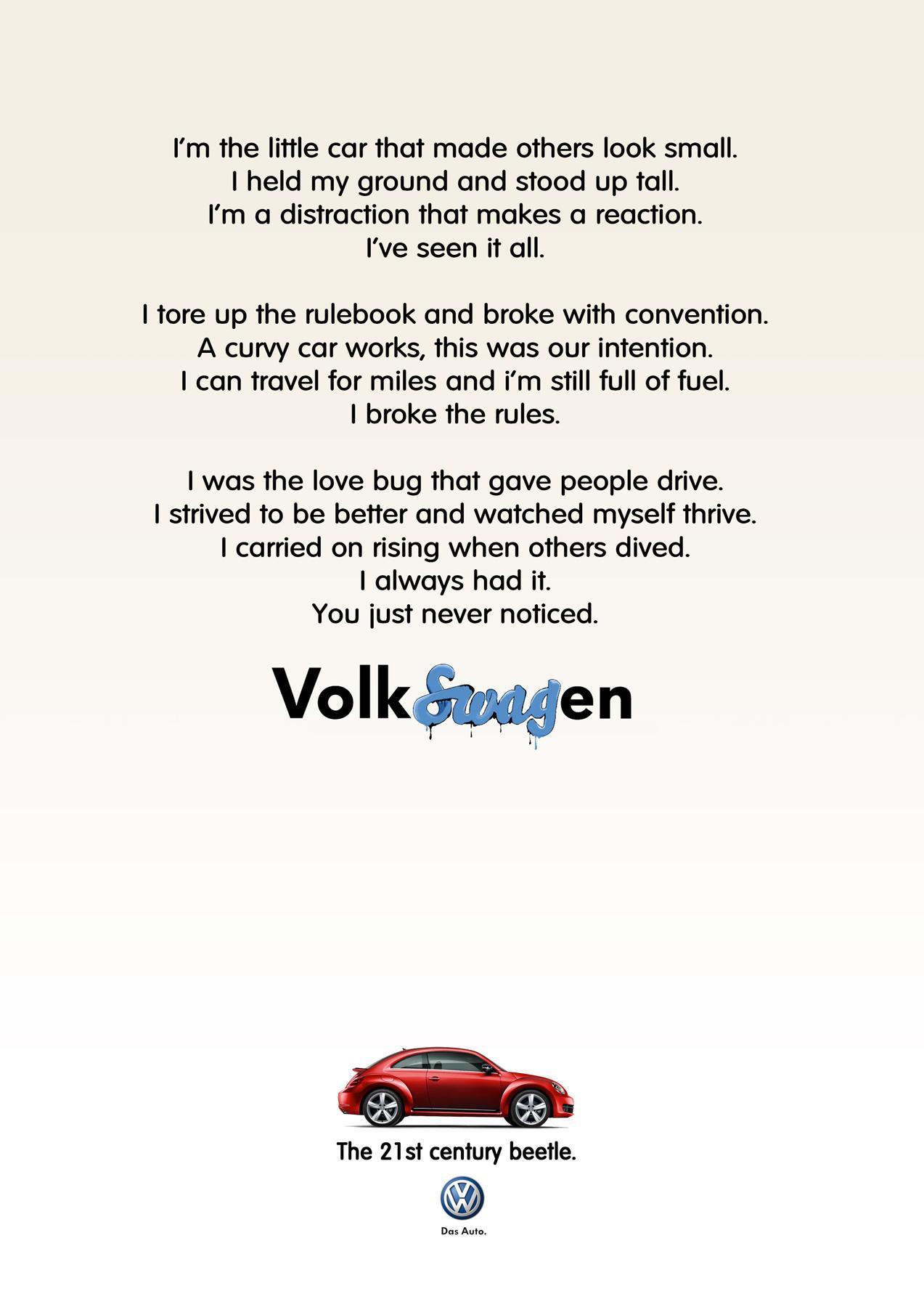 Volkswagen Print Ad -  Red