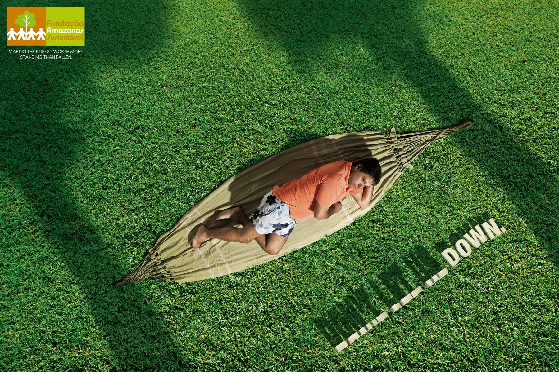 Fundação Amazonas Sustentável Print Ad -  Hammock