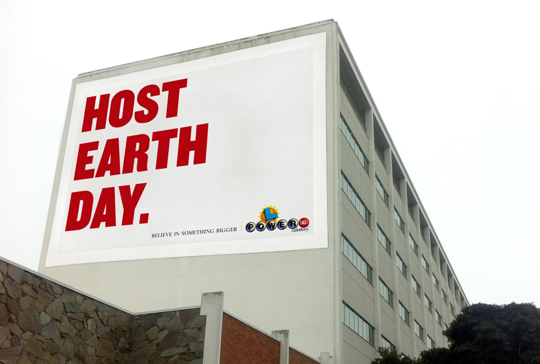 The California Lottery Outdoor Ad -  Earth Day