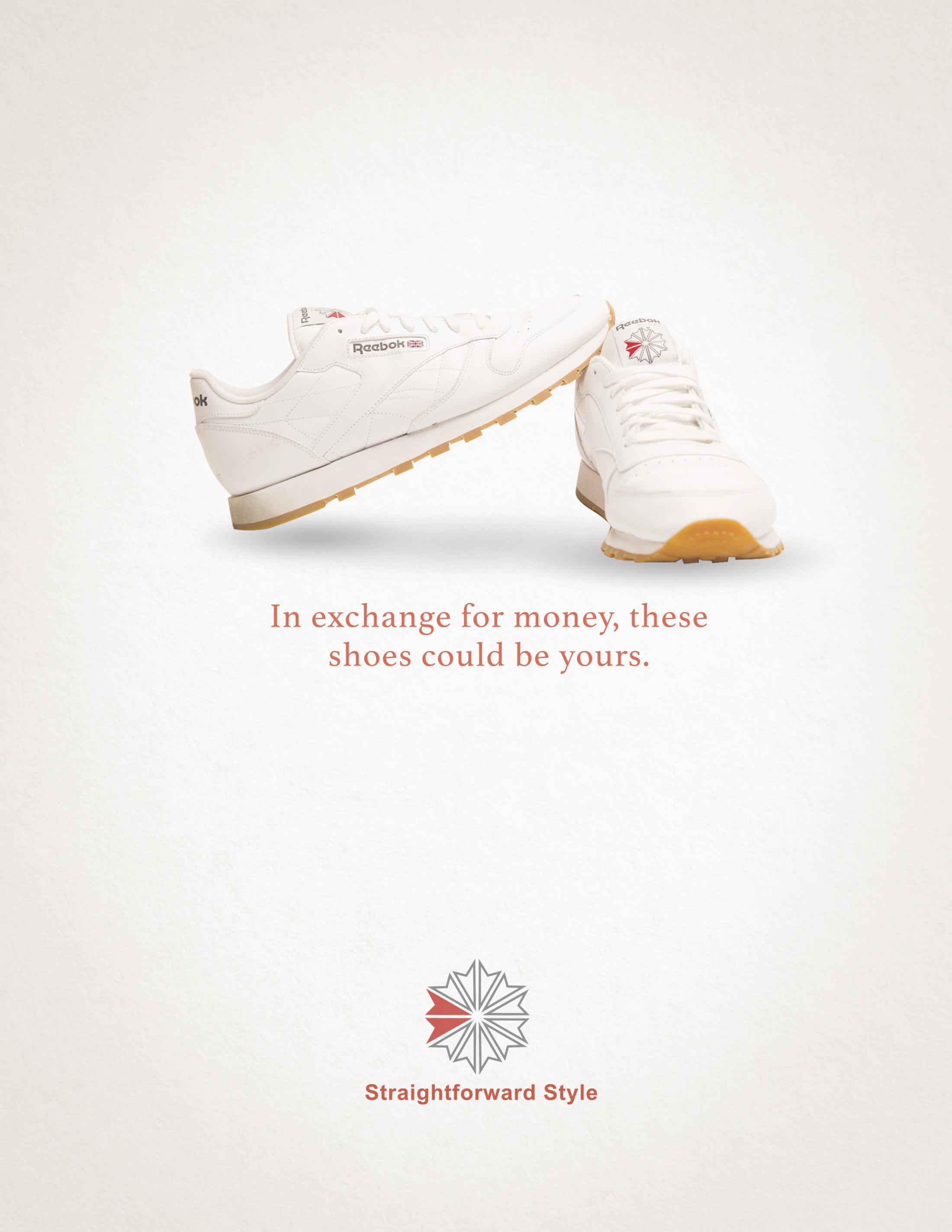 Reebok Print Ad - Exchange for money