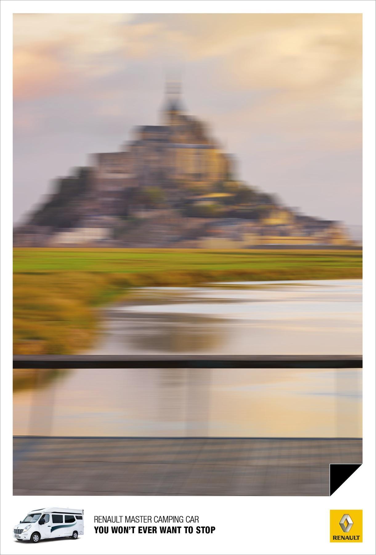Renault Print Ad -  Mont Saint-Michel
