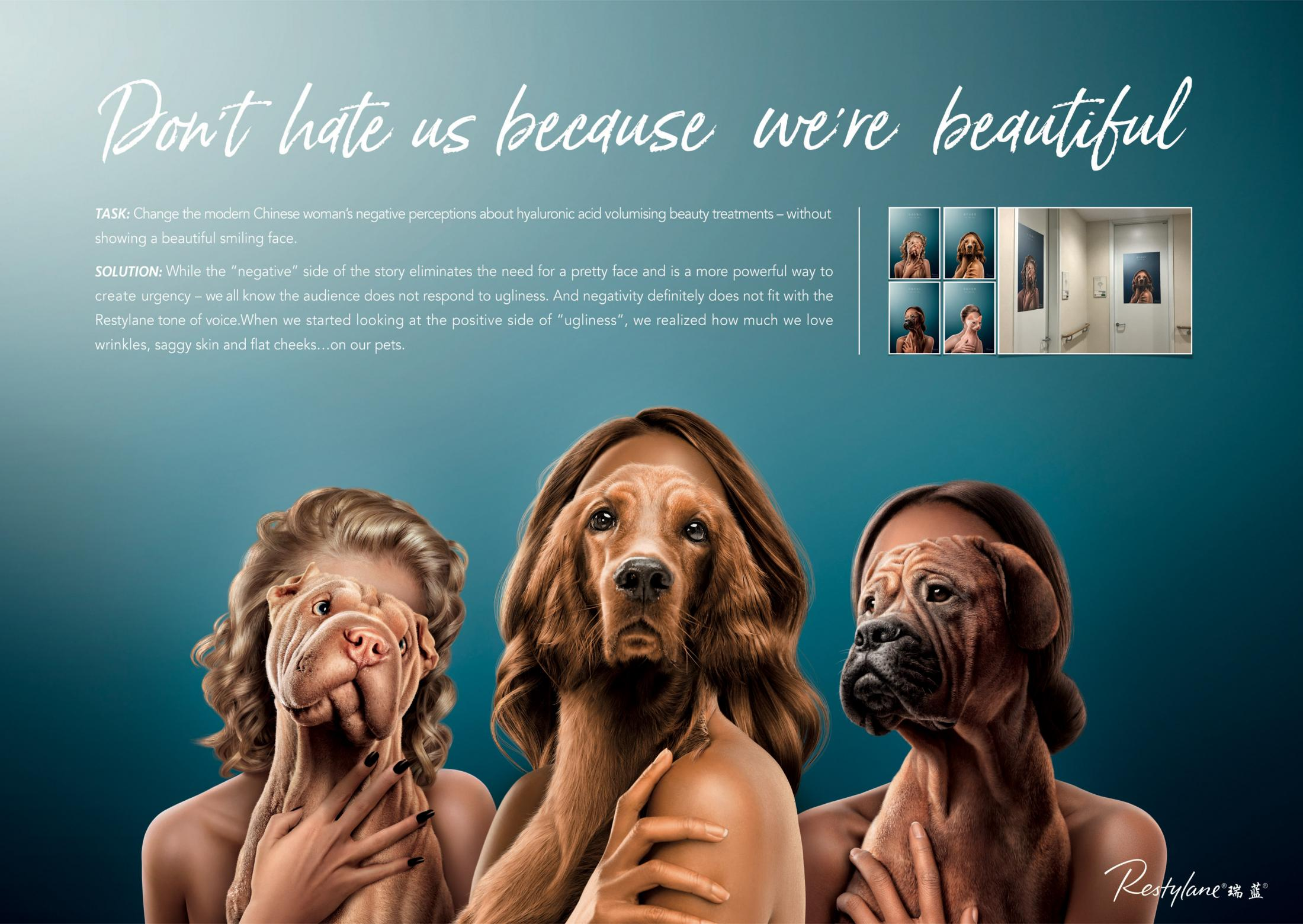 Restylane Print Ad - Good on me, Not on you, 1