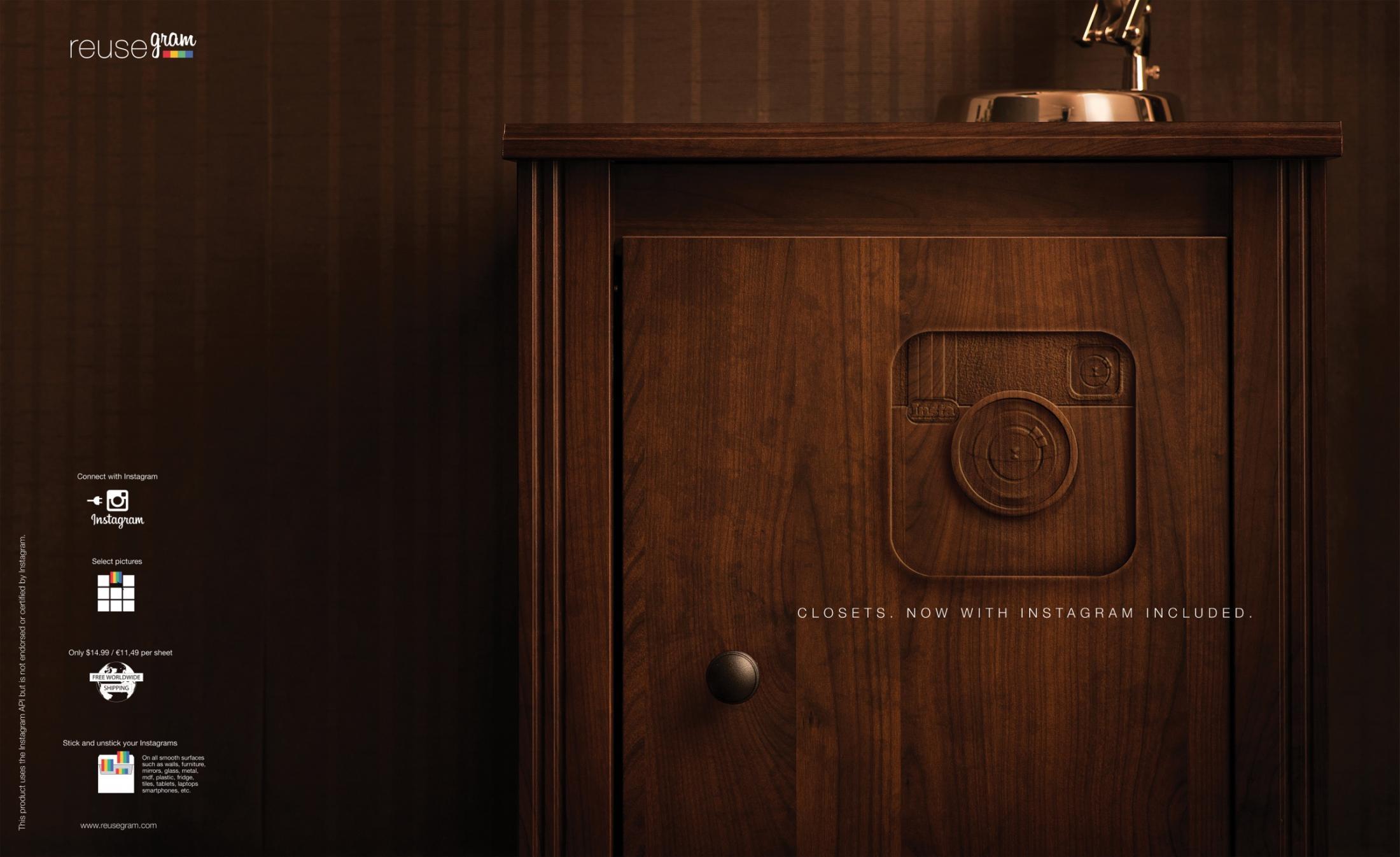 Reusegram Print Ad -  Closet