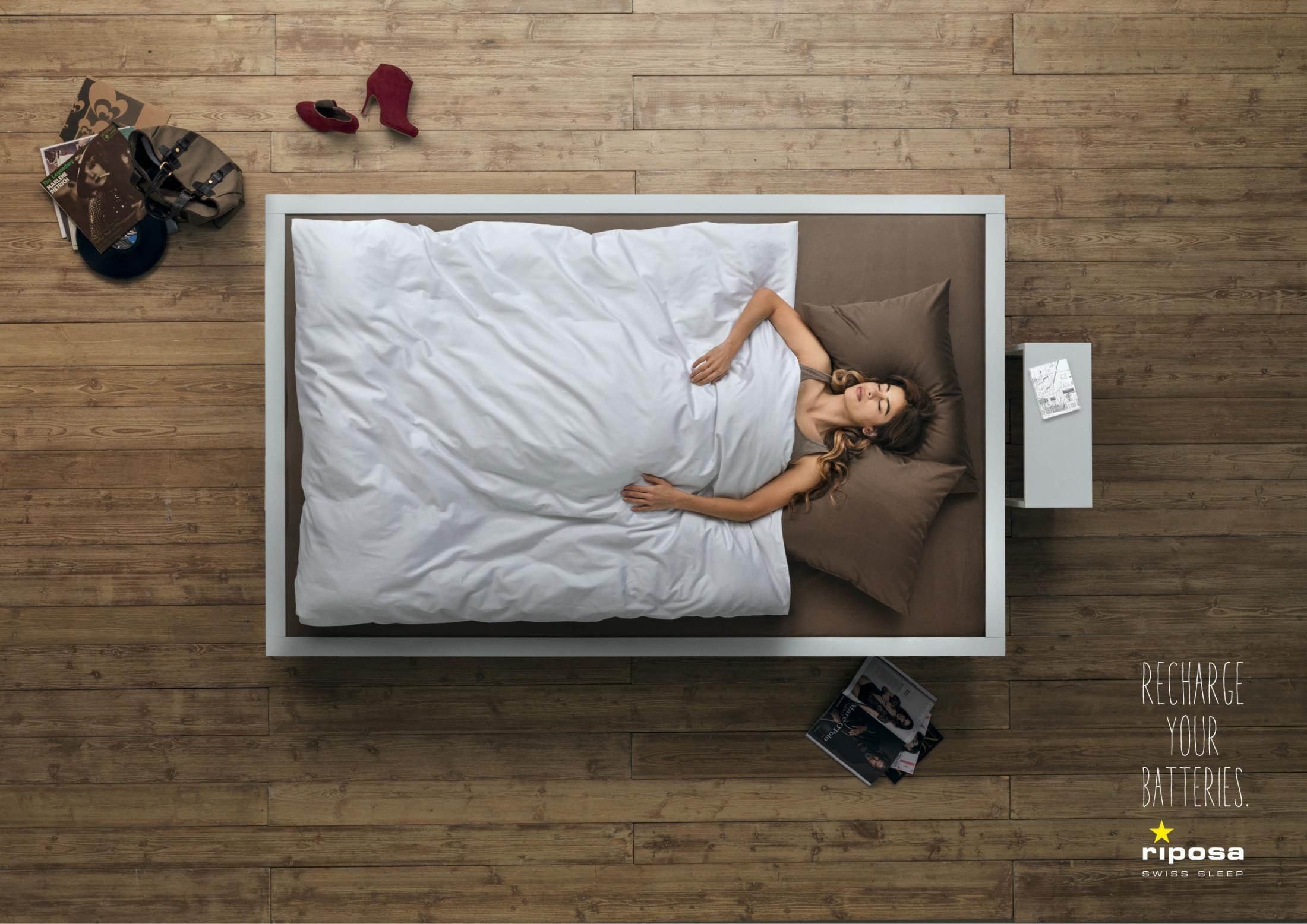 Riposa Print Ad -  Recharge your Batteries, Girl