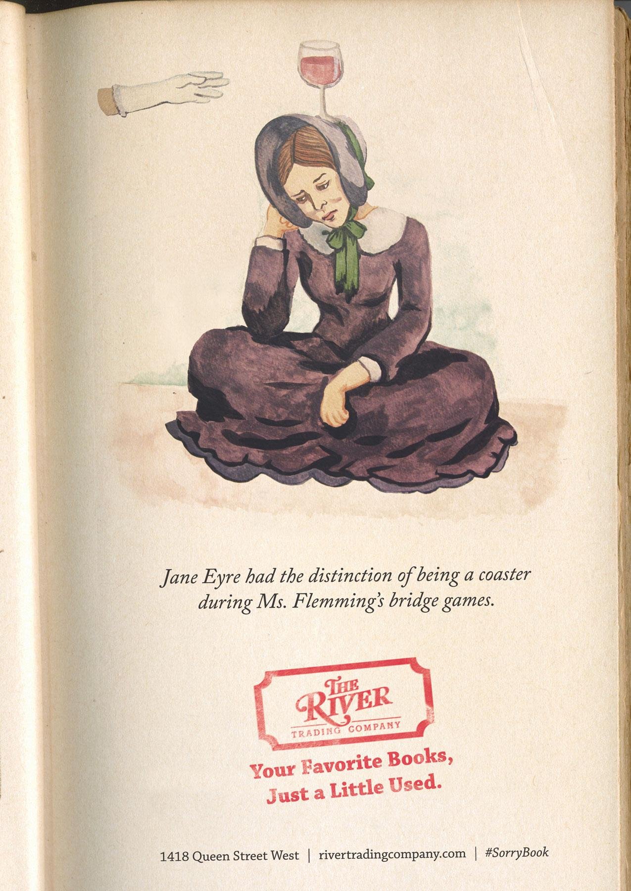 The River Trading Company Print Ad -  Jane Eyre