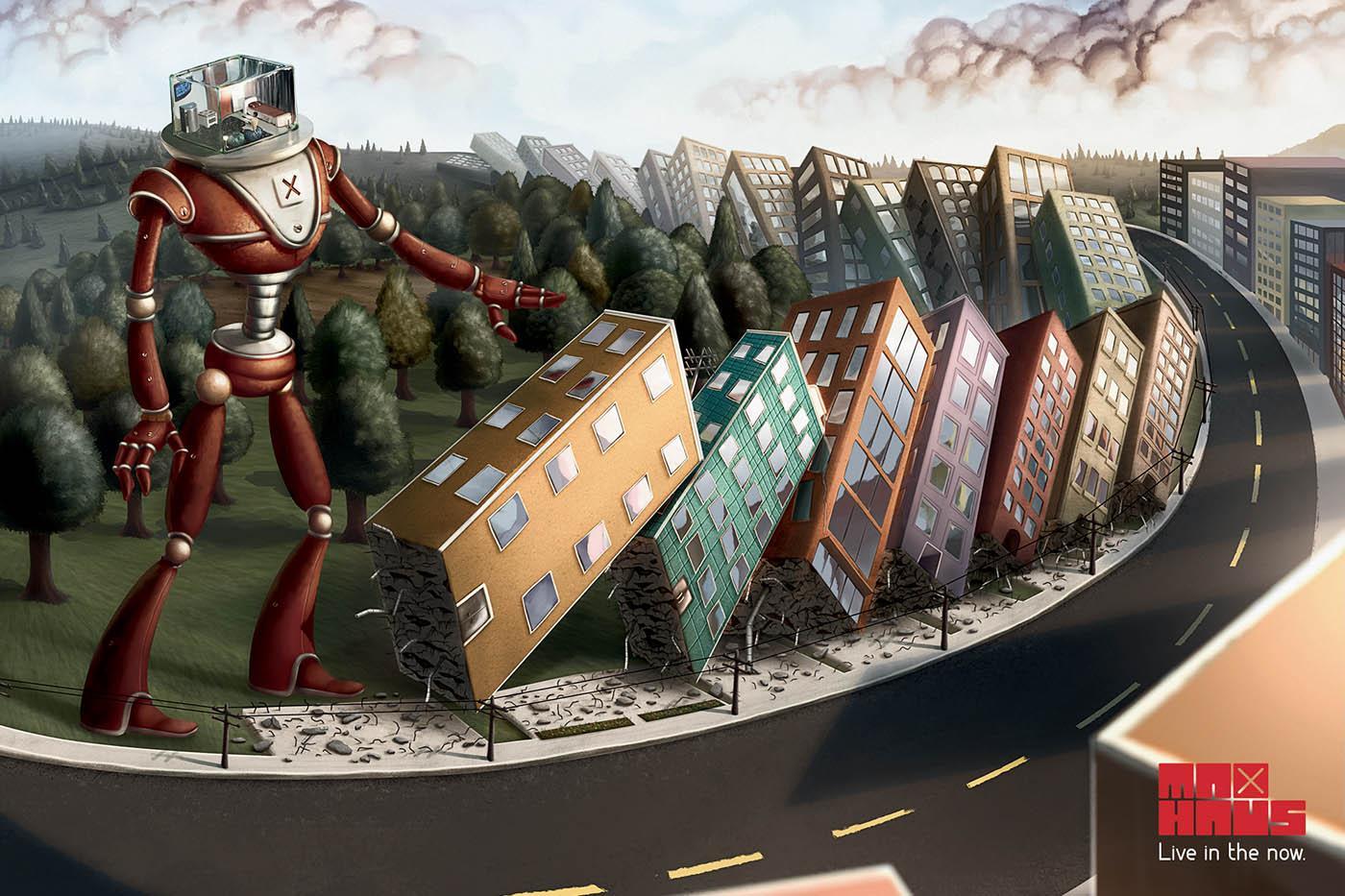 MaxHaus Print Ad -  Robot, 1