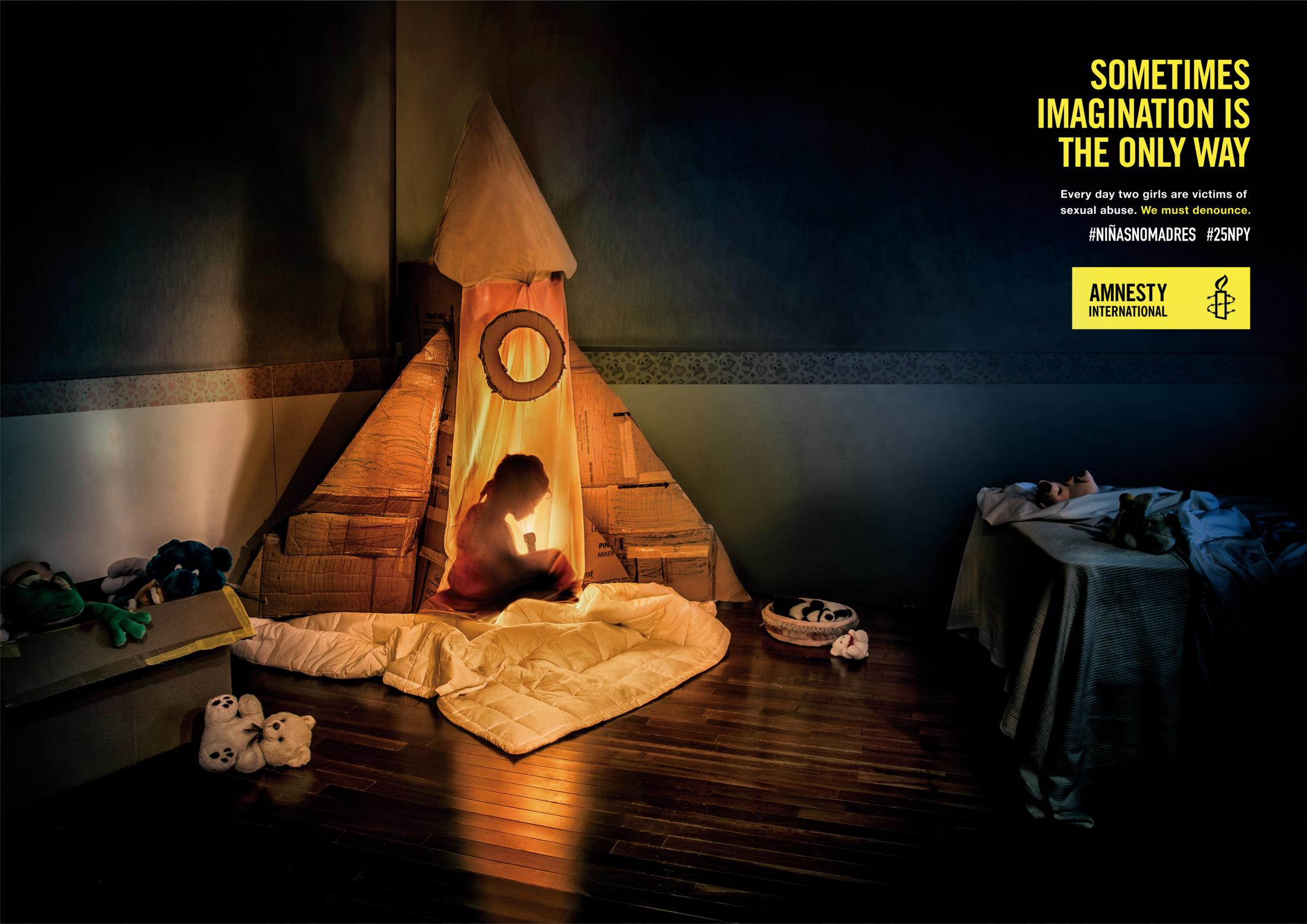 Amnesty International Print Ad - Rocket