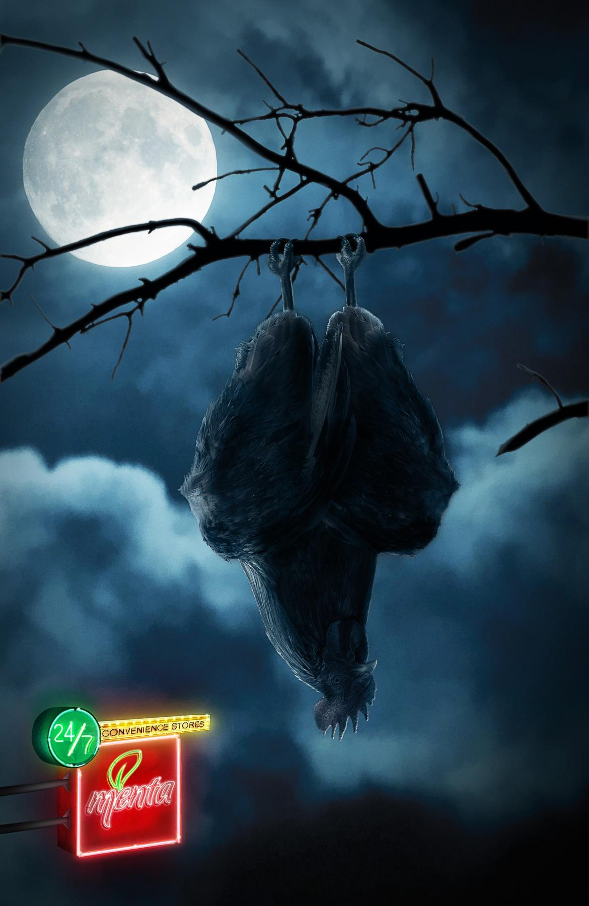 Menta Print Ad -  Rooster-bat