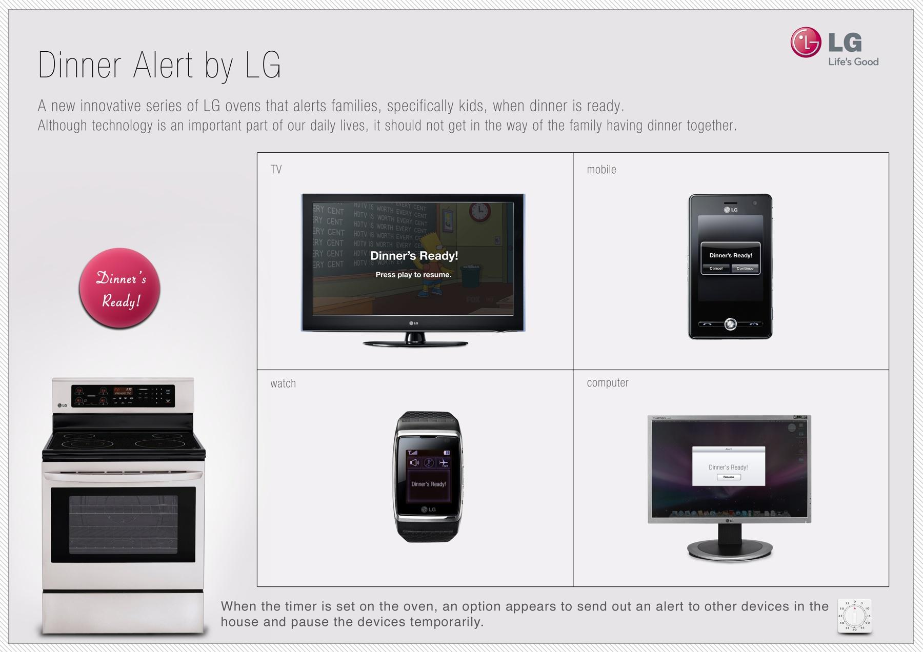 LG Ambient Ad -  Dinner Alert