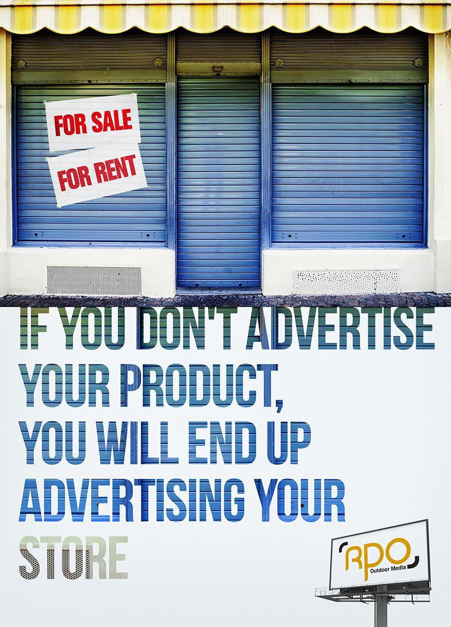 RPO Outdoor Media Print Ad - For rent