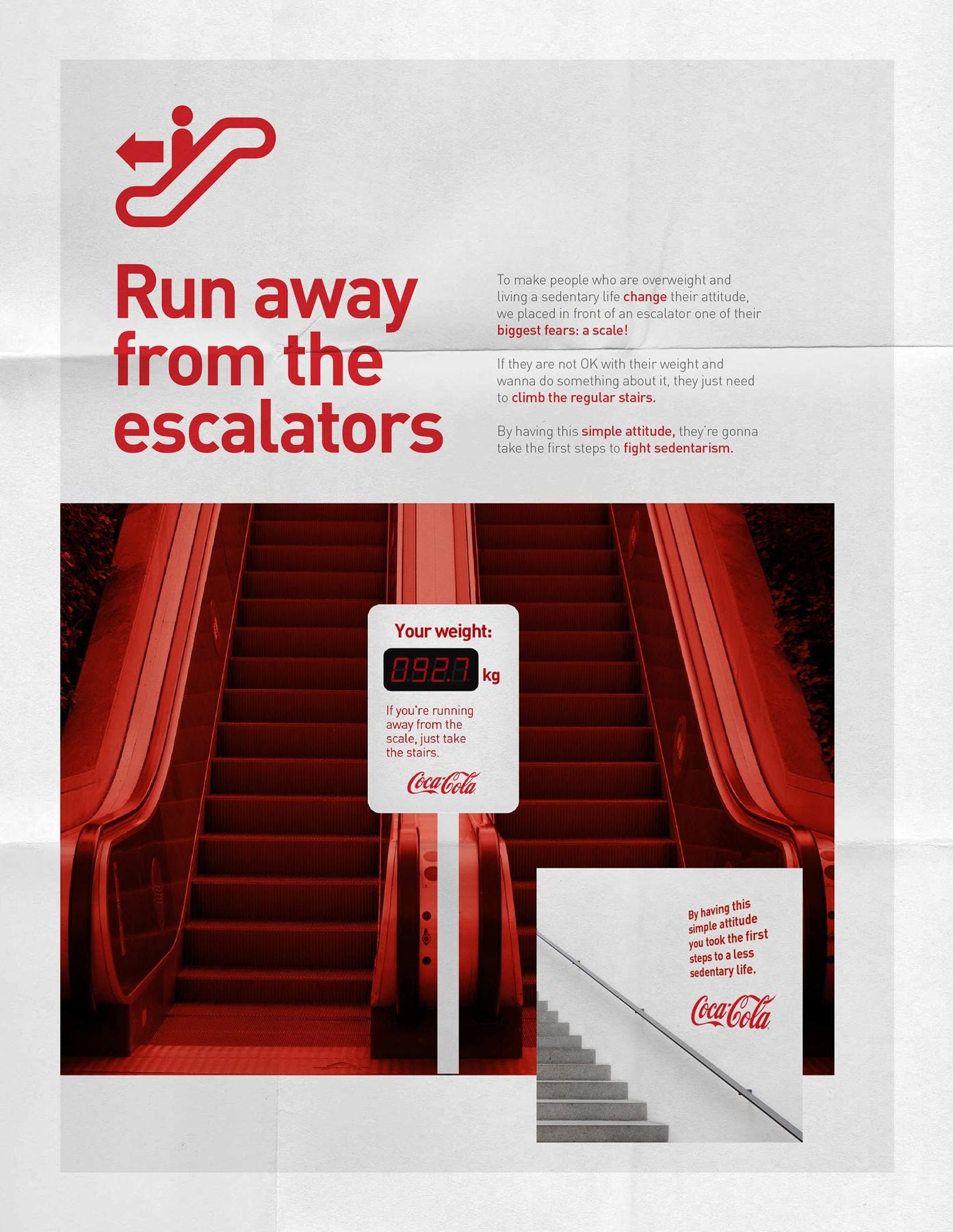 Coca-Cola Outdoor Ad -  Run Away from the escalators