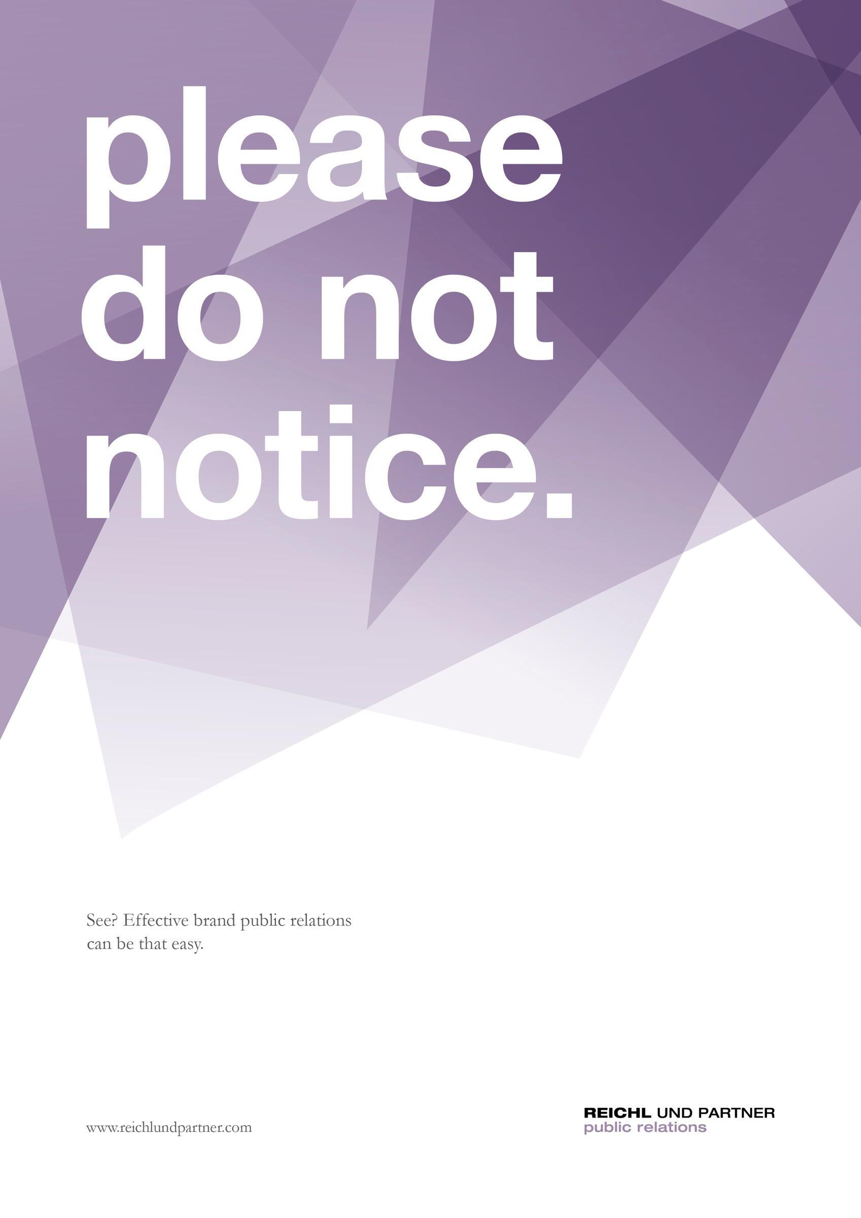 Reichl und Partner Outdoor Ad -  Do not notice