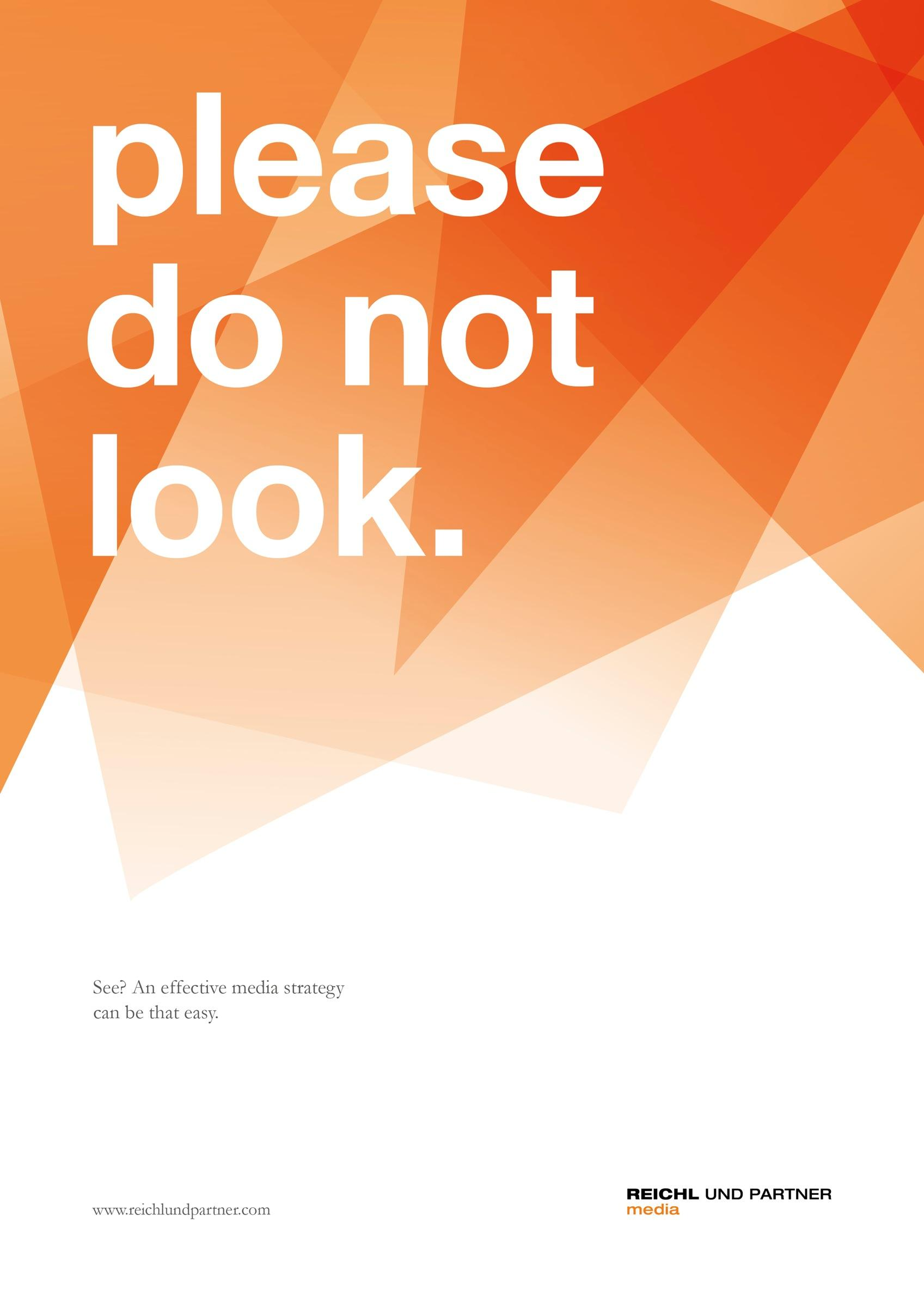 Reichl und Partner Outdoor Ad -  Do not look