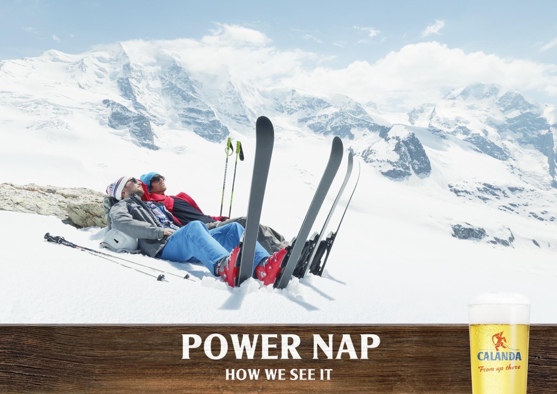Calanda Print Ad -  Power Nap