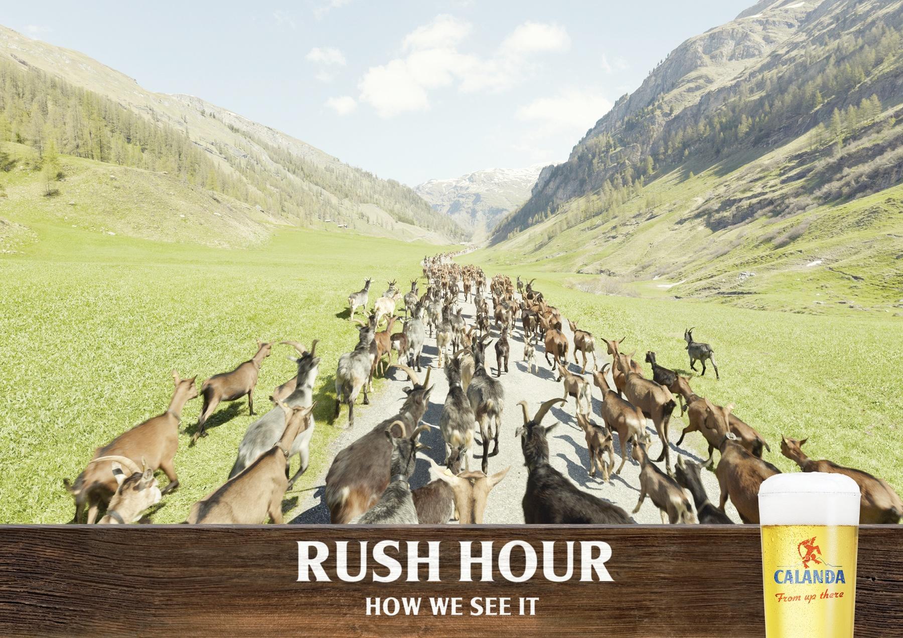 Calanda Print Ad -  Rush Hour