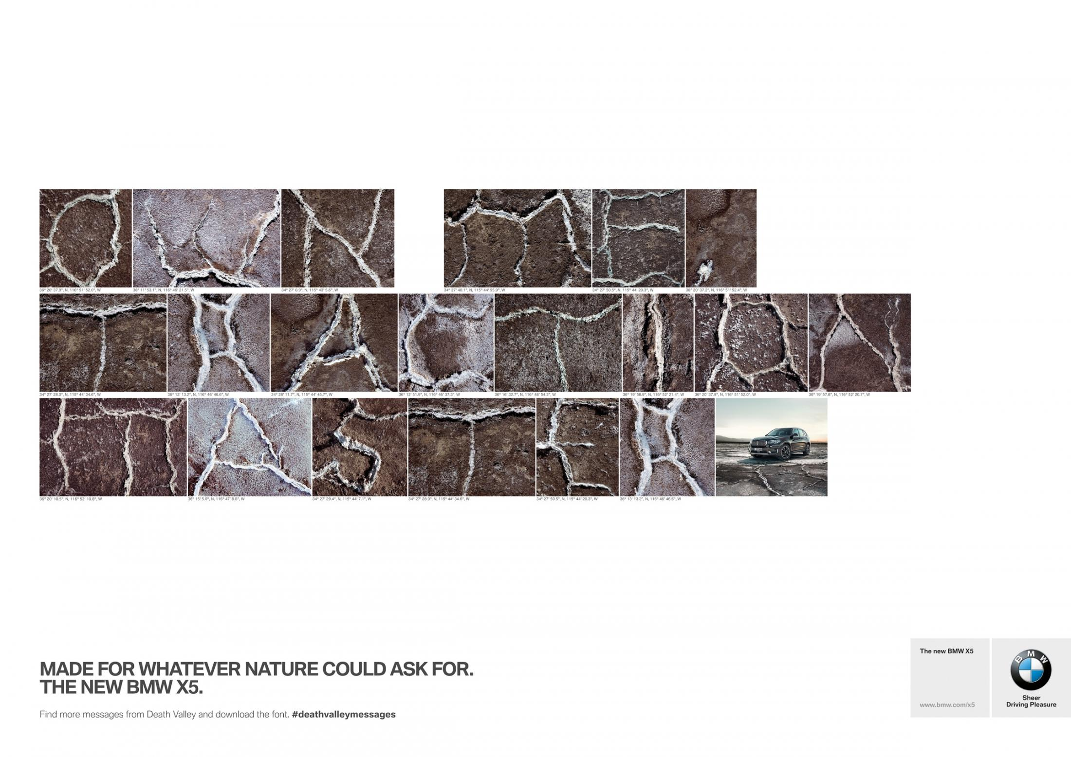 BMW Print Ad -  Death Valley Messages, 3