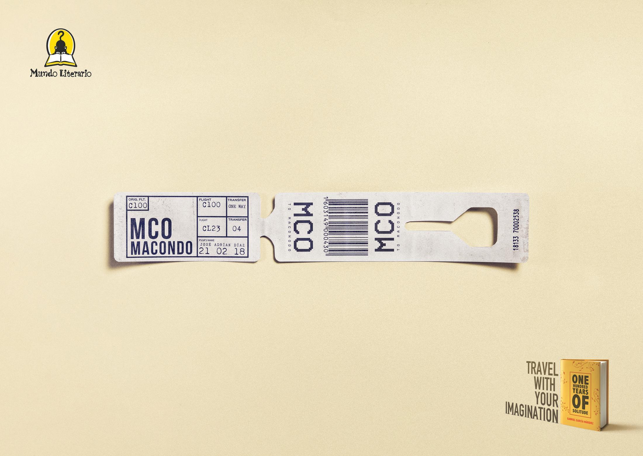 Mundo Literio Print Ad - One Hundred Years of Solitude