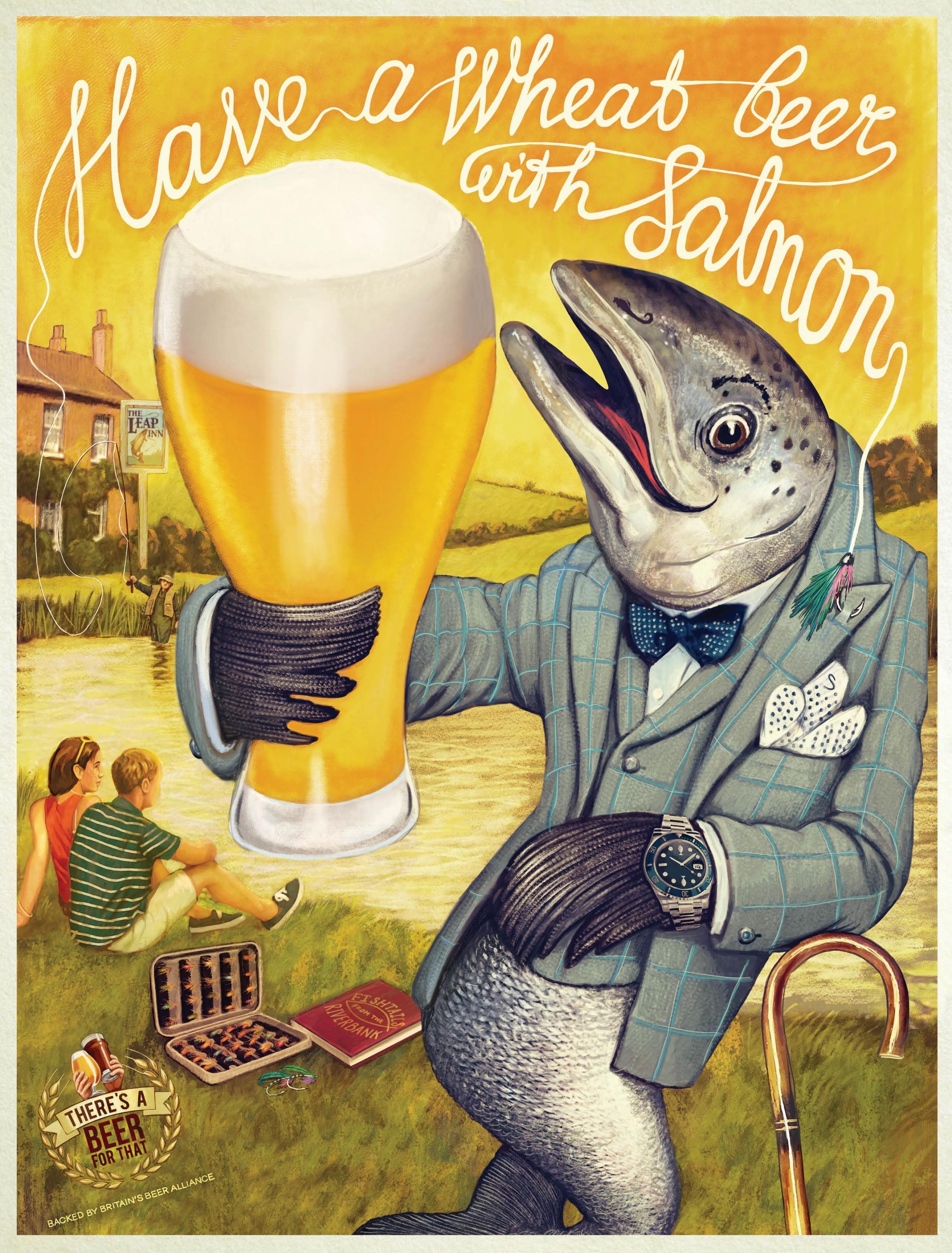 Britain's Beer Alliance Print Ad - Salmon