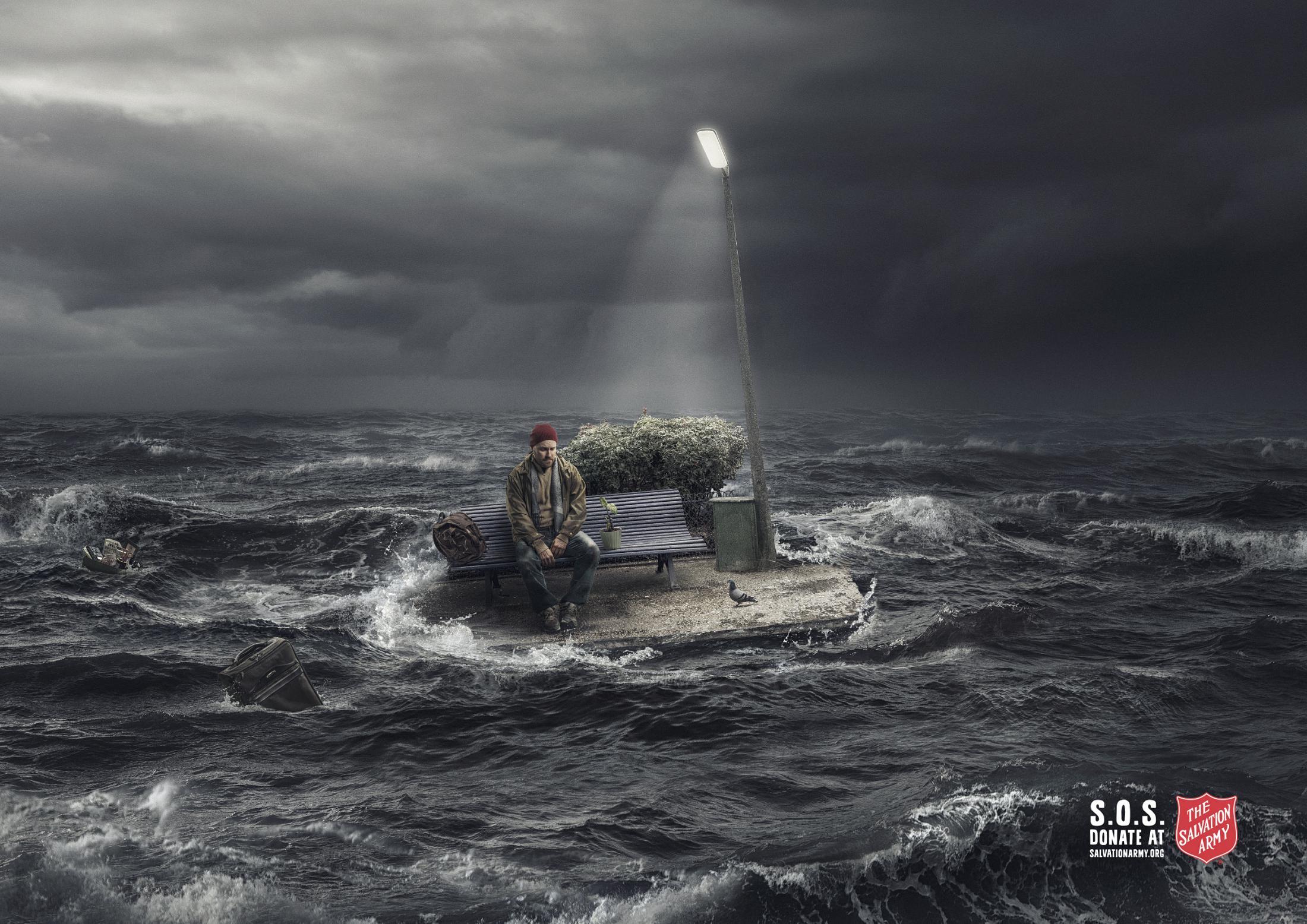 Salvation Army Print Ad - S.O.S. - Man