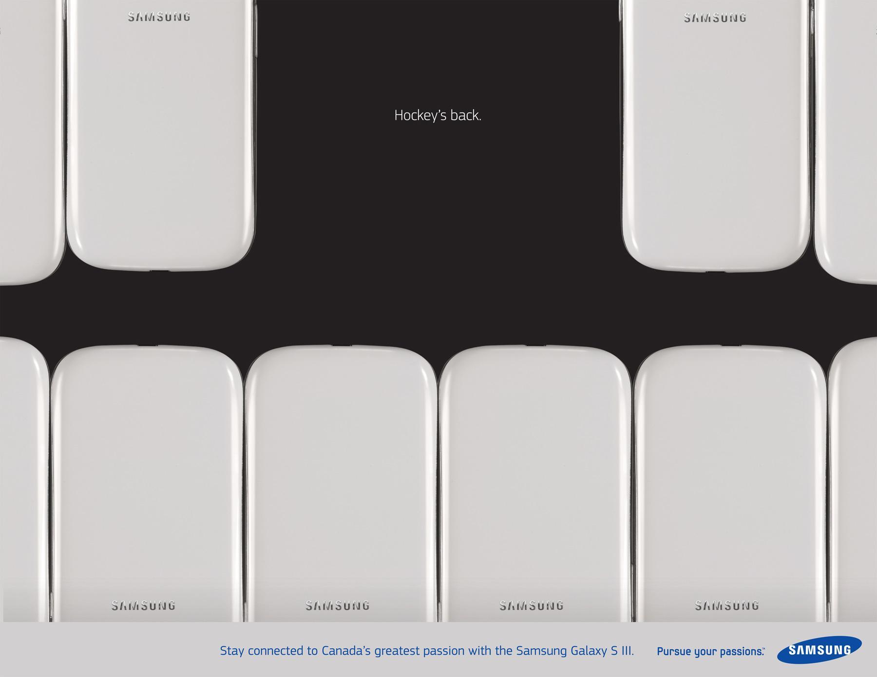 Samsung Print Ad -  Hockey Teeth