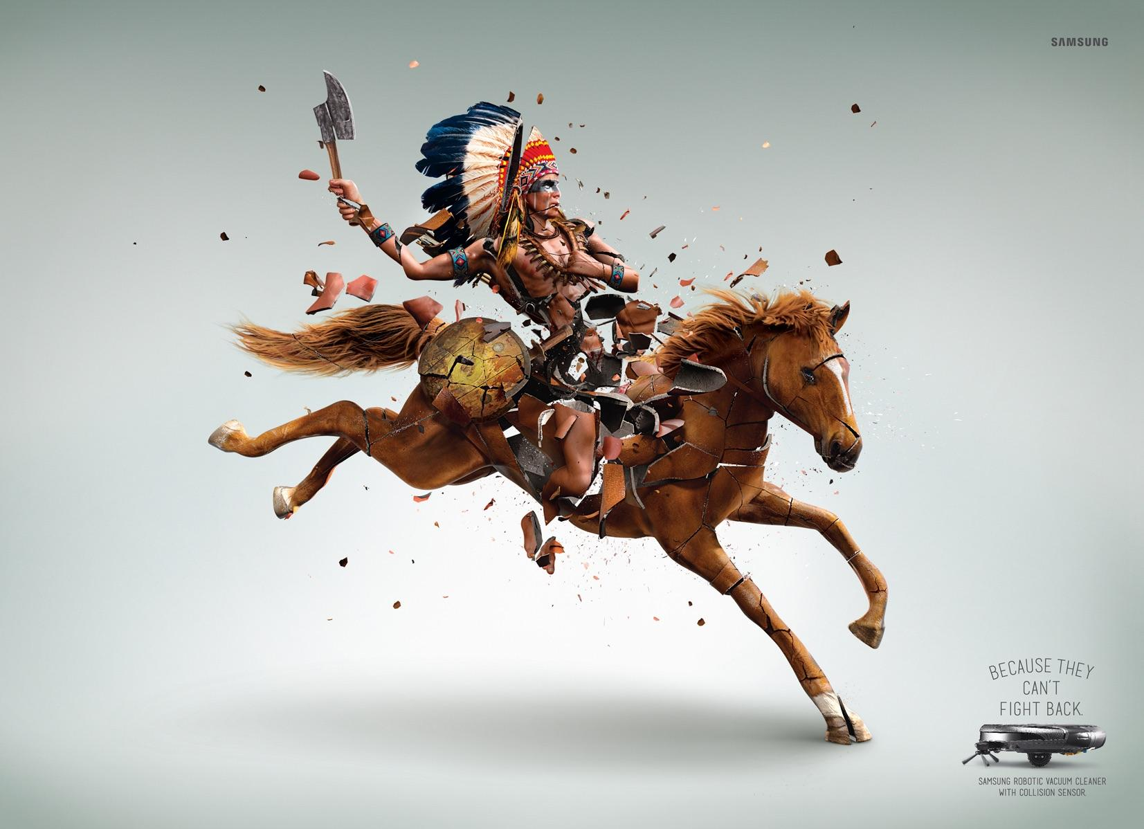 Samsung Print Ad -  Can't fight back, 1