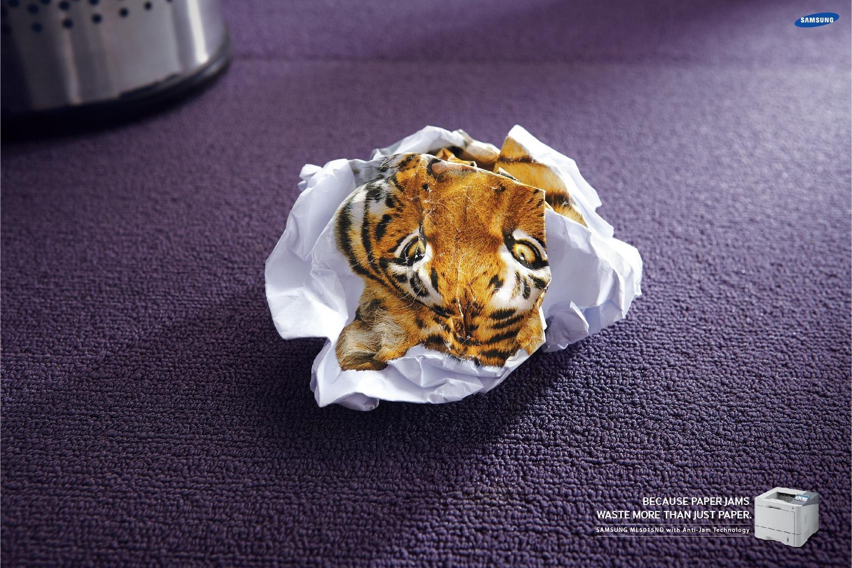 Samsung Print Ad -  Tiger