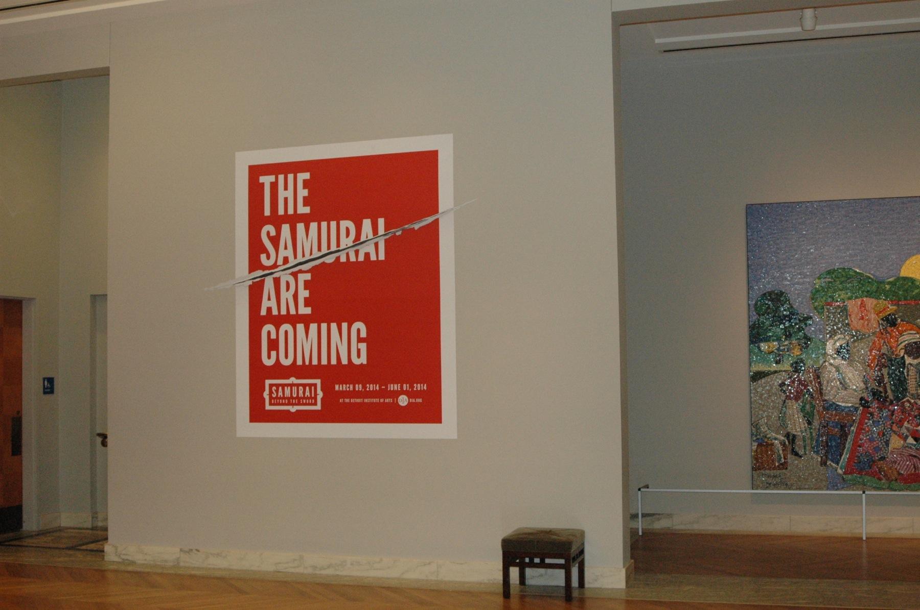 Detroit Institute of Arts Outdoor Ad -  The Samurai are coming