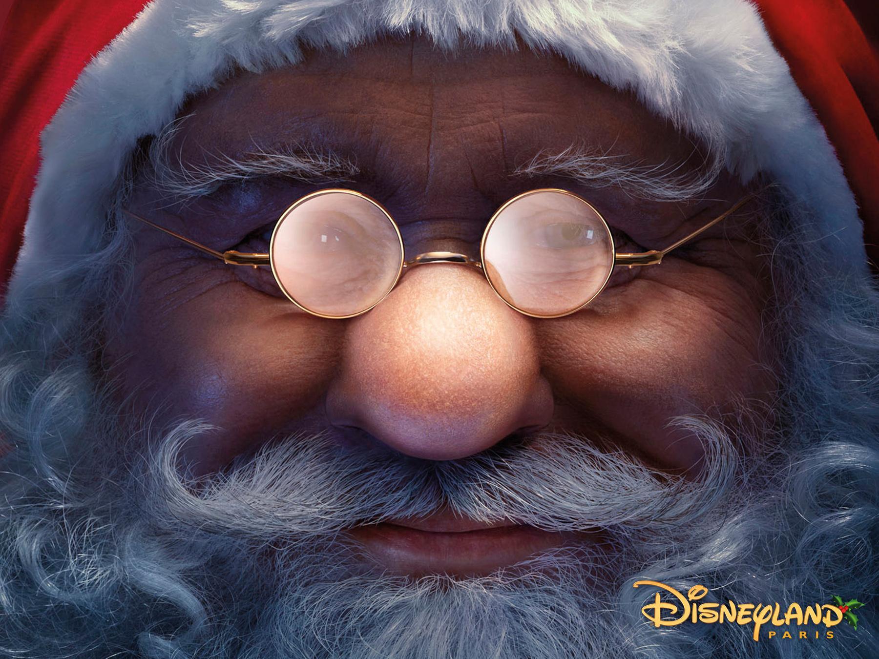 Disneyland Print Ad -  Santa