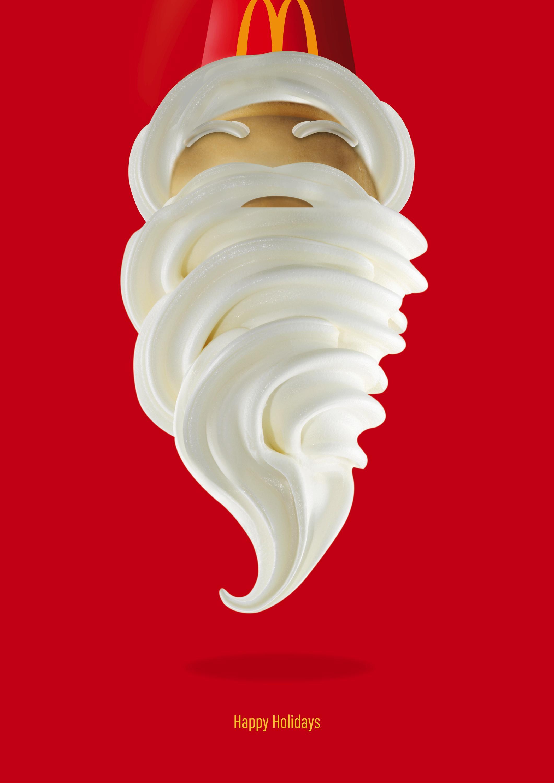 McDonald's Print Ad - Santa