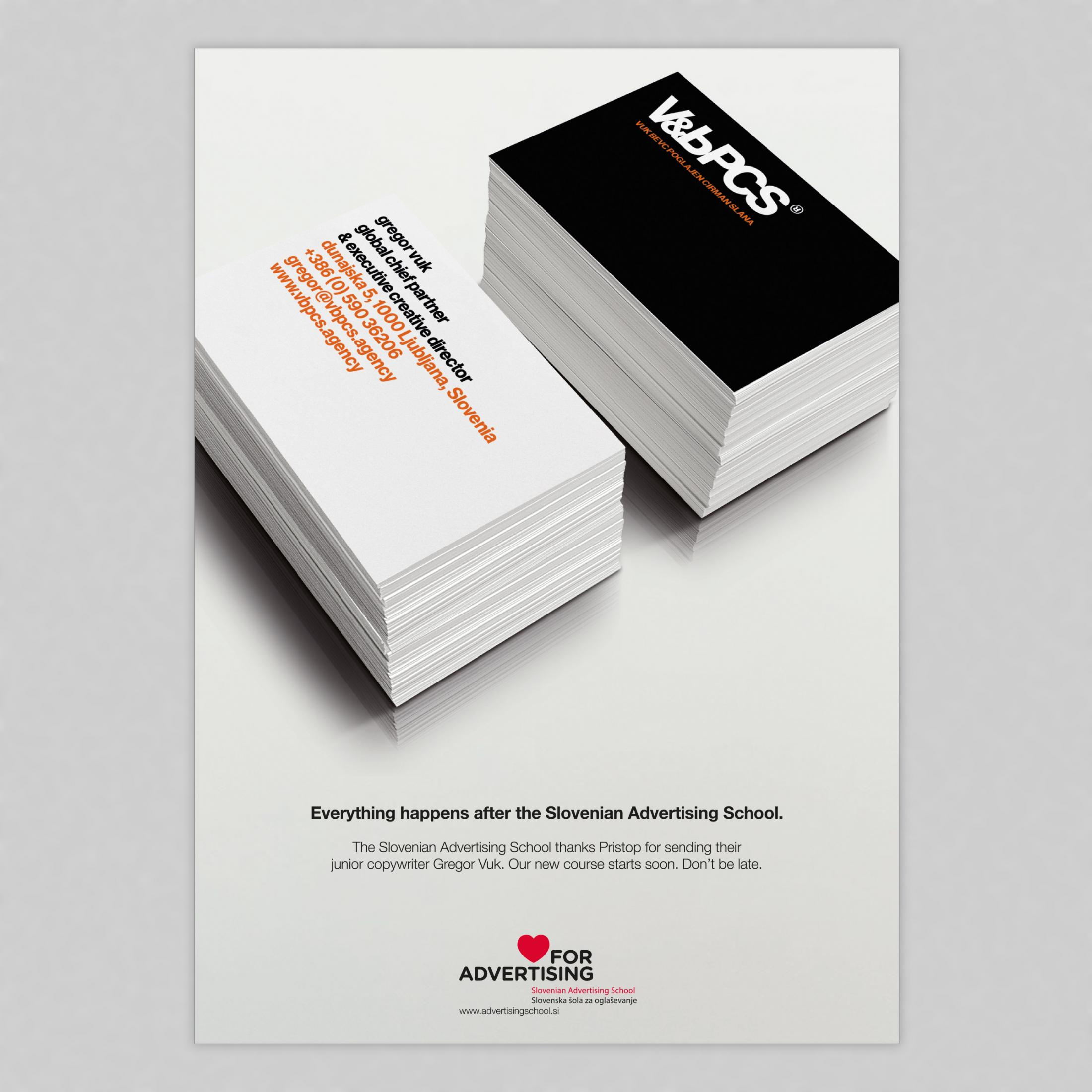Slovenian Advertising School Outdoor Ad - Buzz cards for the future, 2