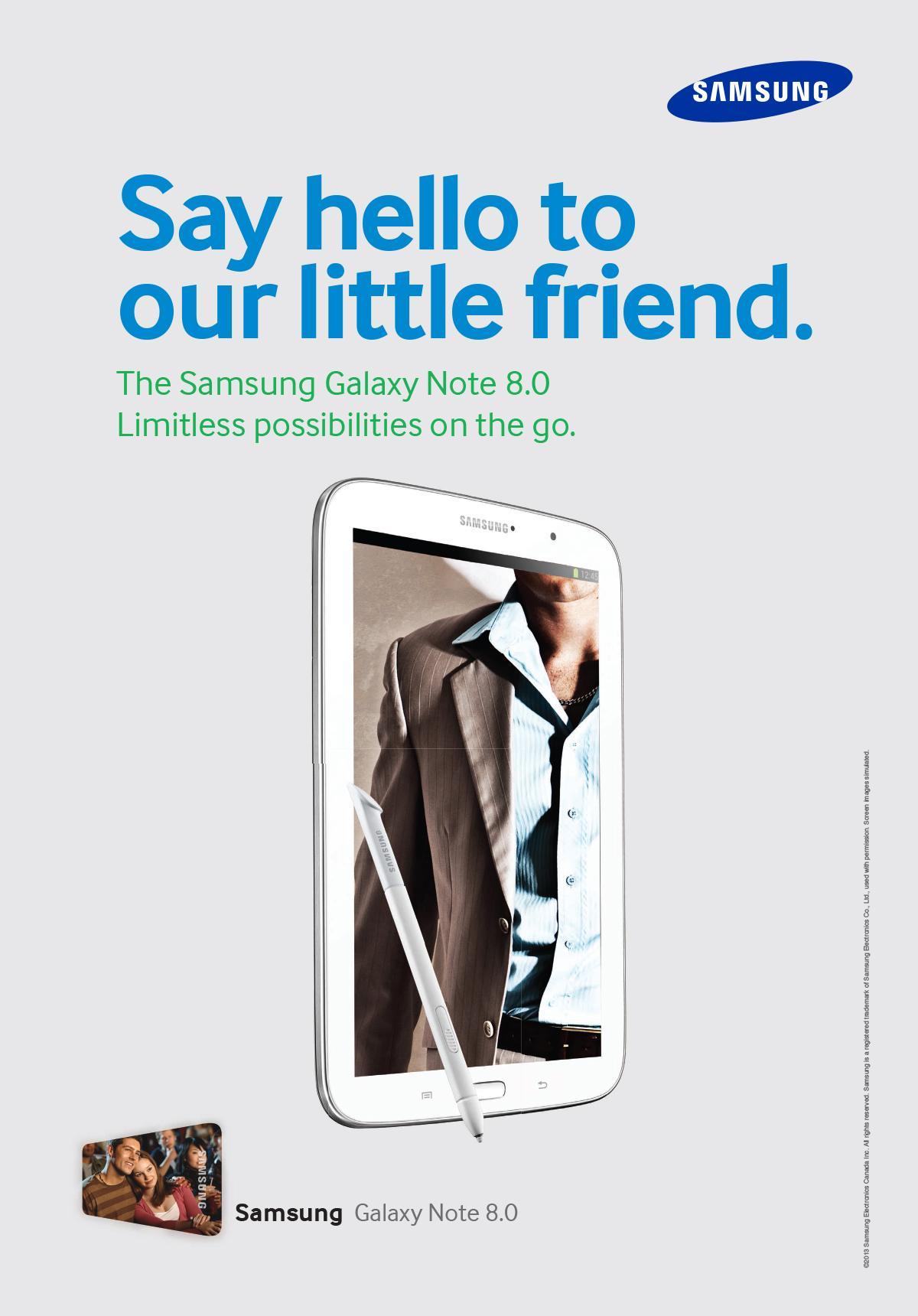 Samsung Print Ad -  Say hello