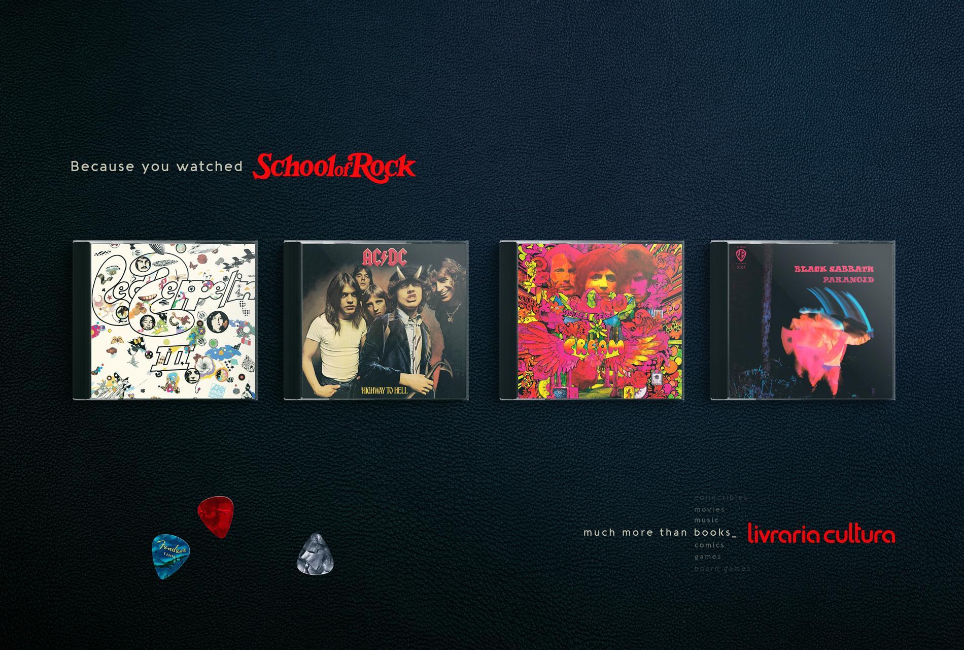 Livraria Cultura Print Ad - School of Rock