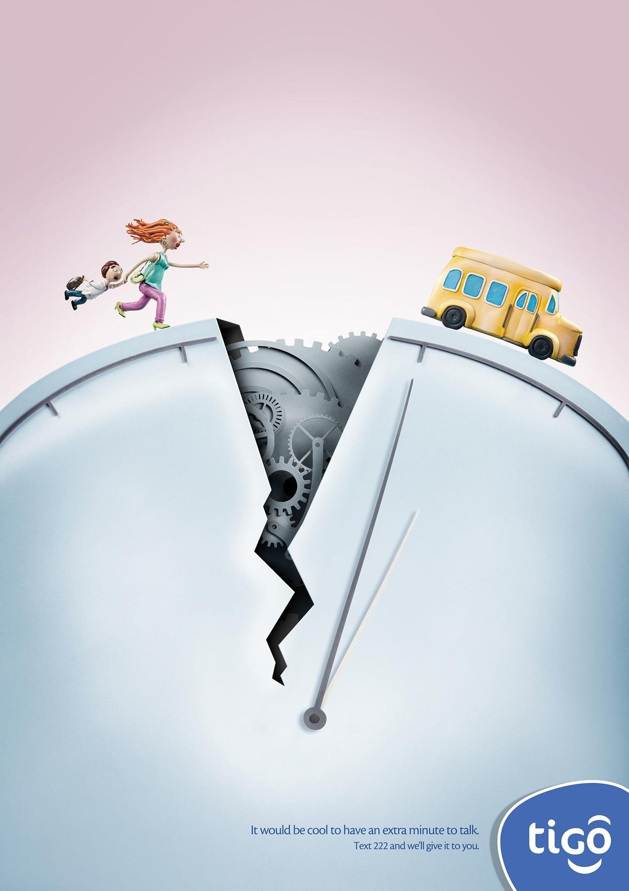 Tigo Print Ad -  School Bus