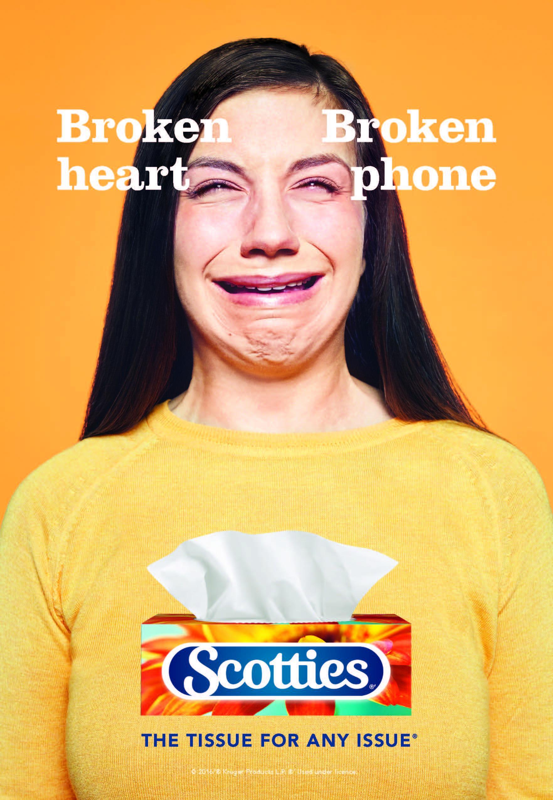 Scotties Print Ad - Broken heart - broken phone