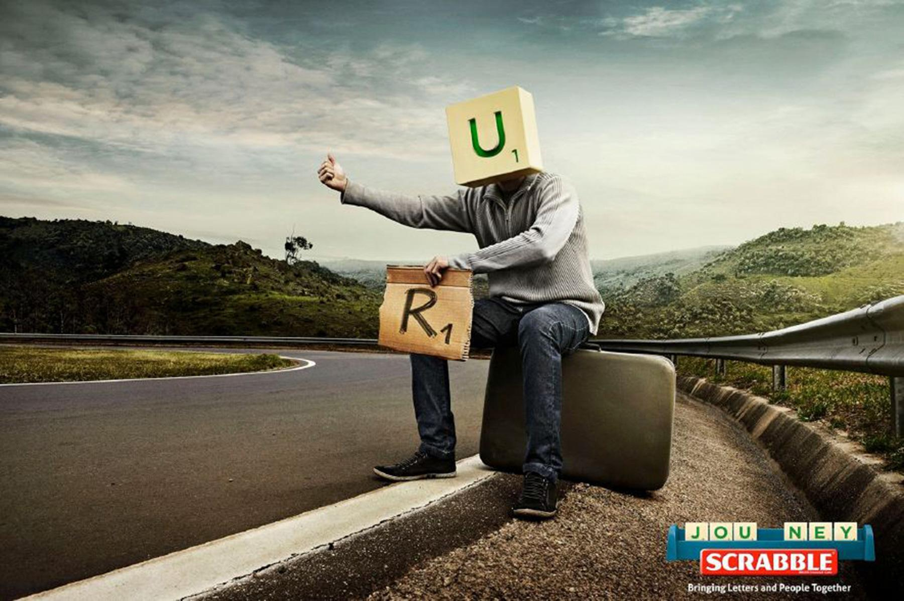 Scrabble Print Ad -  Letters and people, 2