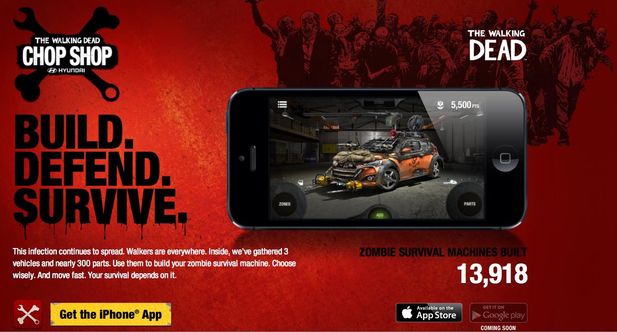 Hyundai Digital Ad -  The Walking Dead Chop Shop