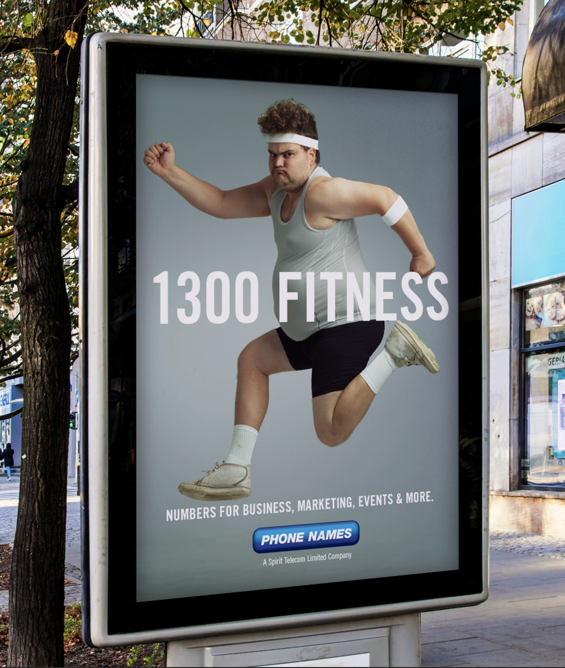 Phone Names Outdoor Ad - 1300 Fitness