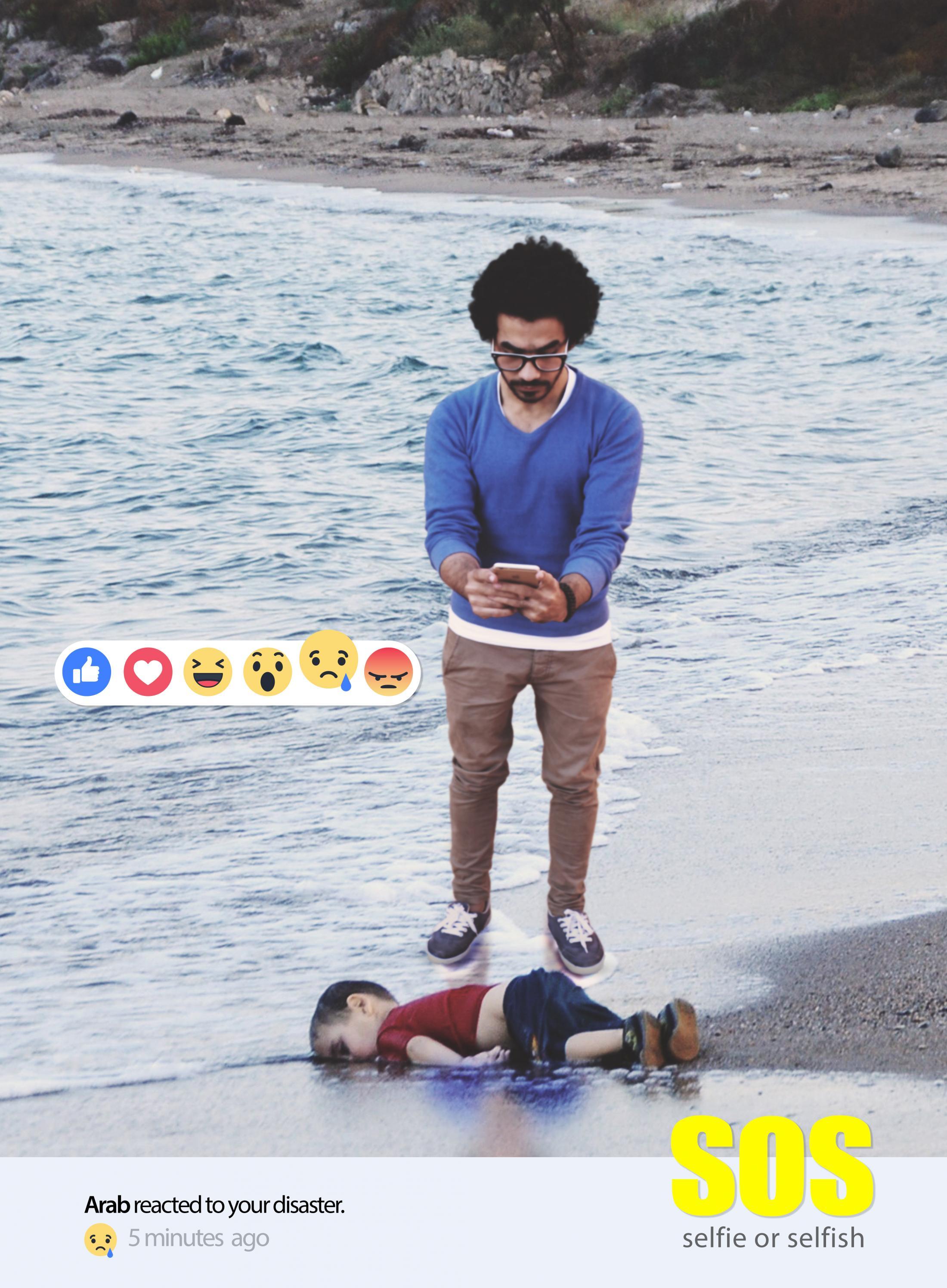 Arab Reaction to their Brothers in Syria Digital Ad - Selfie or Selfish, 3
