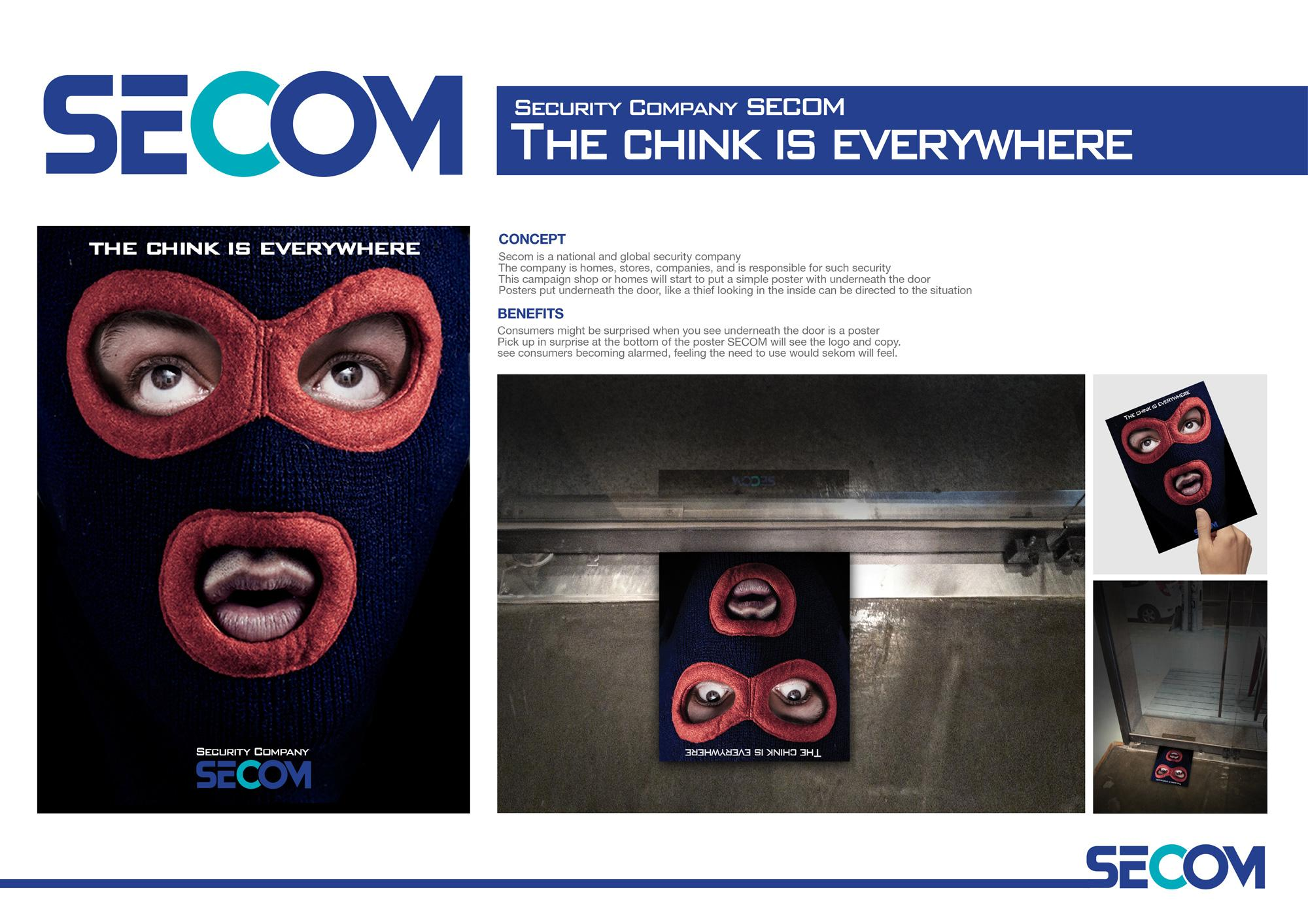 SECOM Direct Ad -  The chink is everywhere