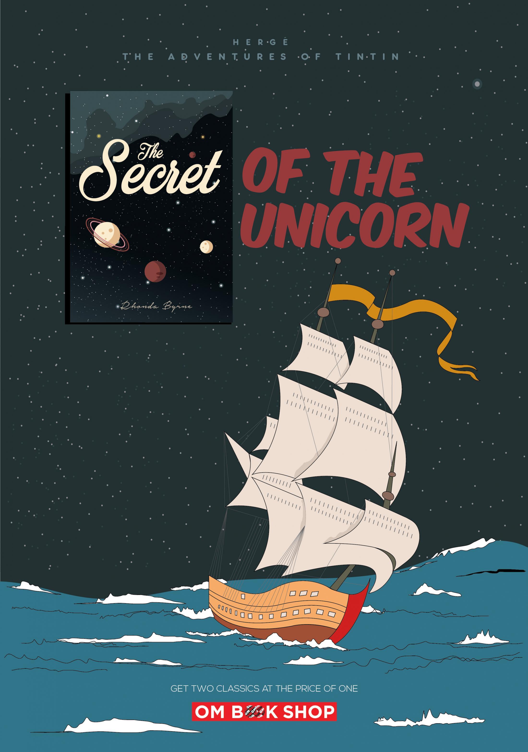 OM Book Shop Print Ad - Secret Of The Unicorn